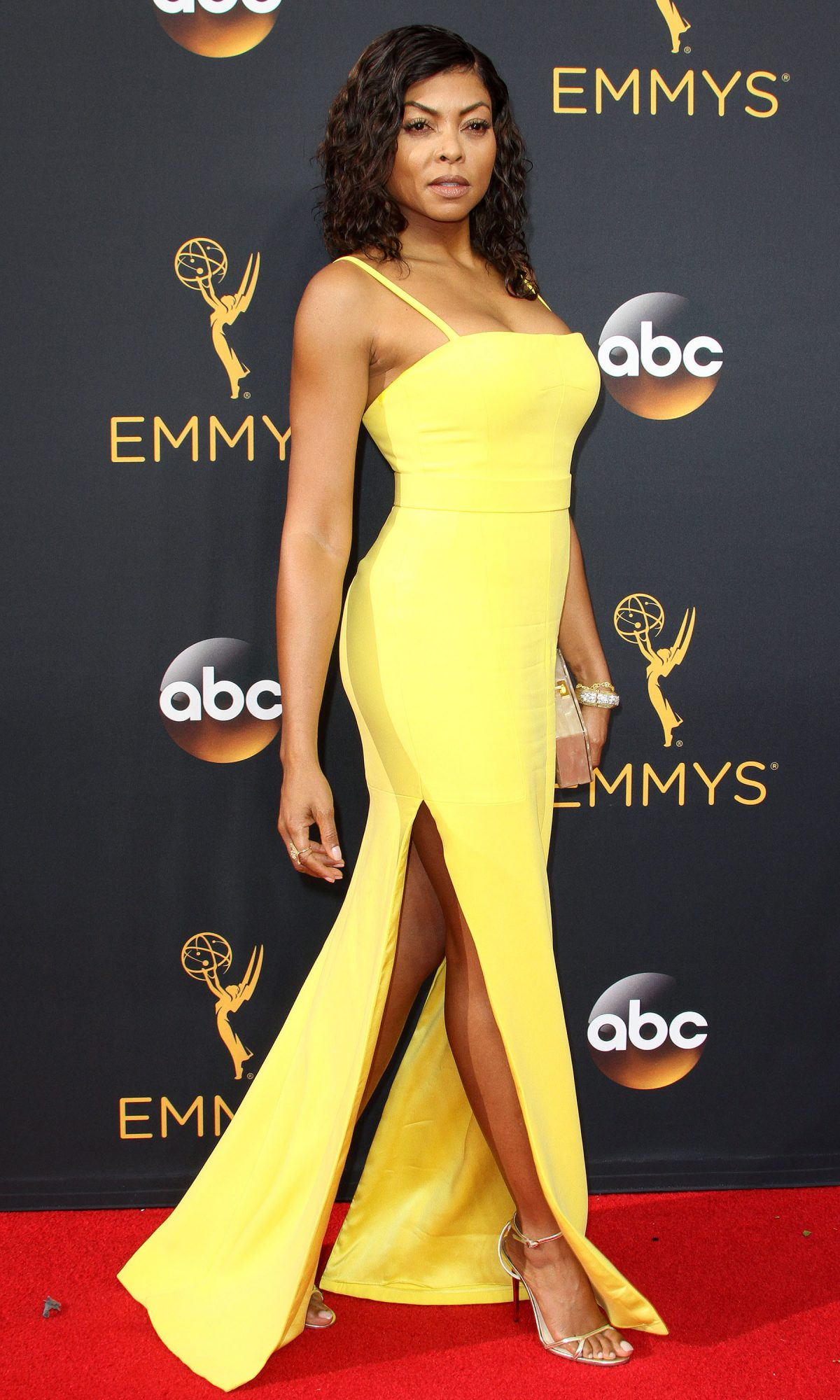 68th Emmy Awards Arrivals 2016 held at the Microsoft Theater Featuring: Taraji P. Henson Where: Los Angeles, California, United States When: 18 Sep 2016 Credit: Adriana M. Barraza/WENN.com