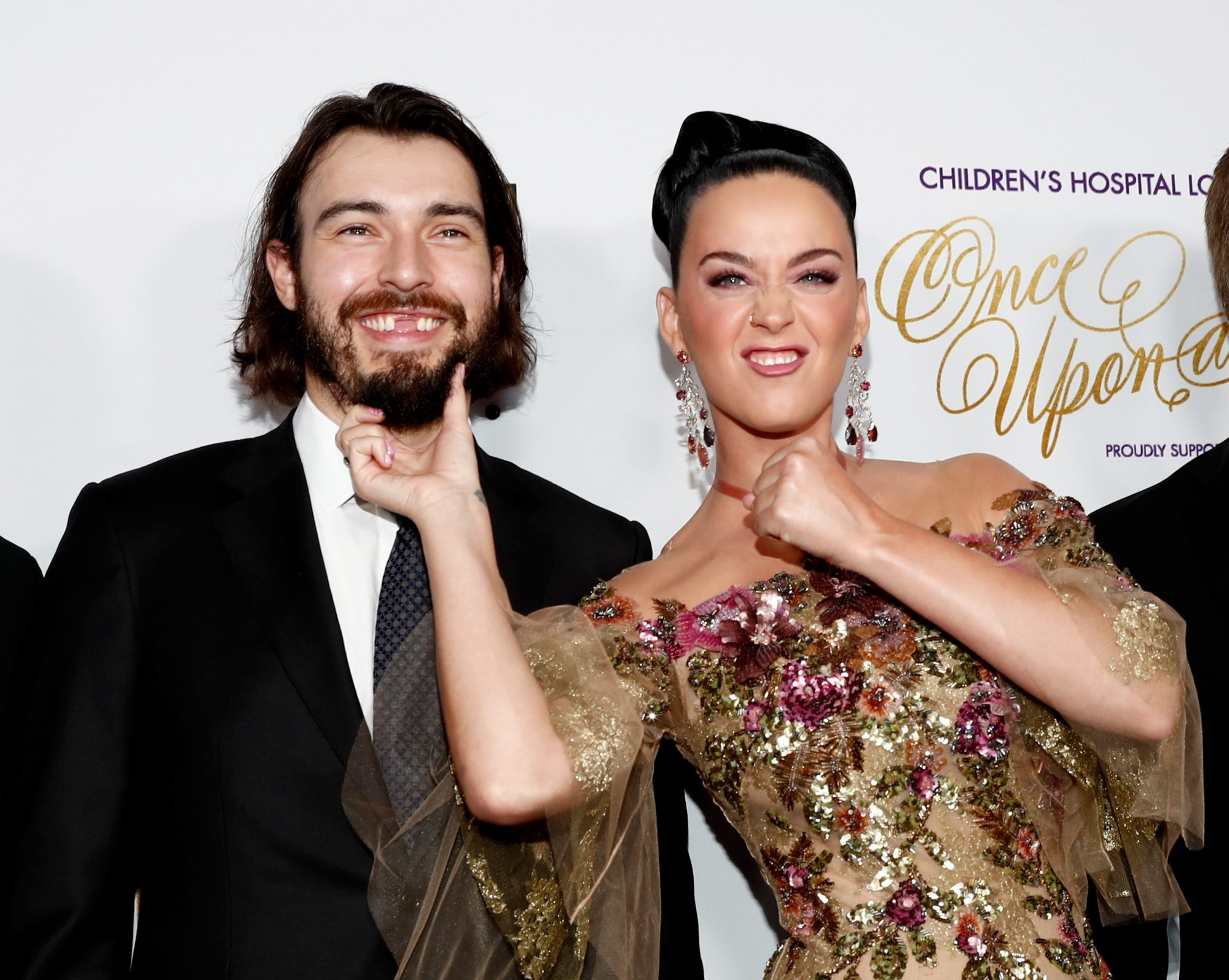 """LOS ANGELES, CA - OCTOBER 15:  Hockey player Drew Doughty (L) and singer Katy Perry attend 2016 Children's Hospital Los Angeles """"Once Upon a Time"""" Gala at The Event Deck at L.A. Live on October 15, 2016 in Los Angeles, California.  (Photo by Rich Polk/Getty Images for Children's Hospital Los Angeles) *** Local Caption *** Drew Doughty; Katy Perry"""