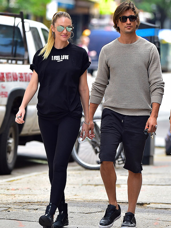Candice Swanepoel welcomes son