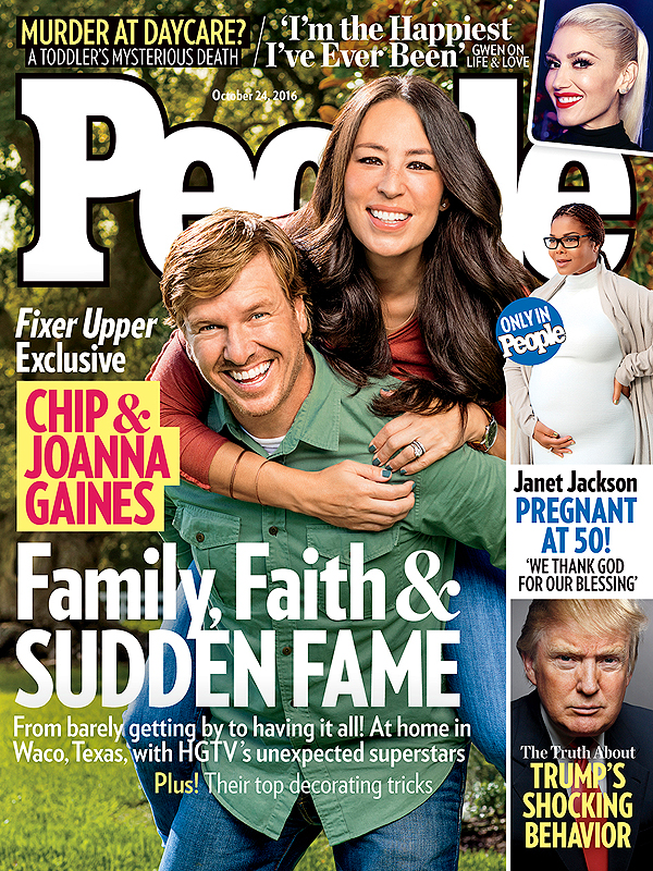 The 10/24/2016 cover of People, featuring Chip & Joanna Gaines