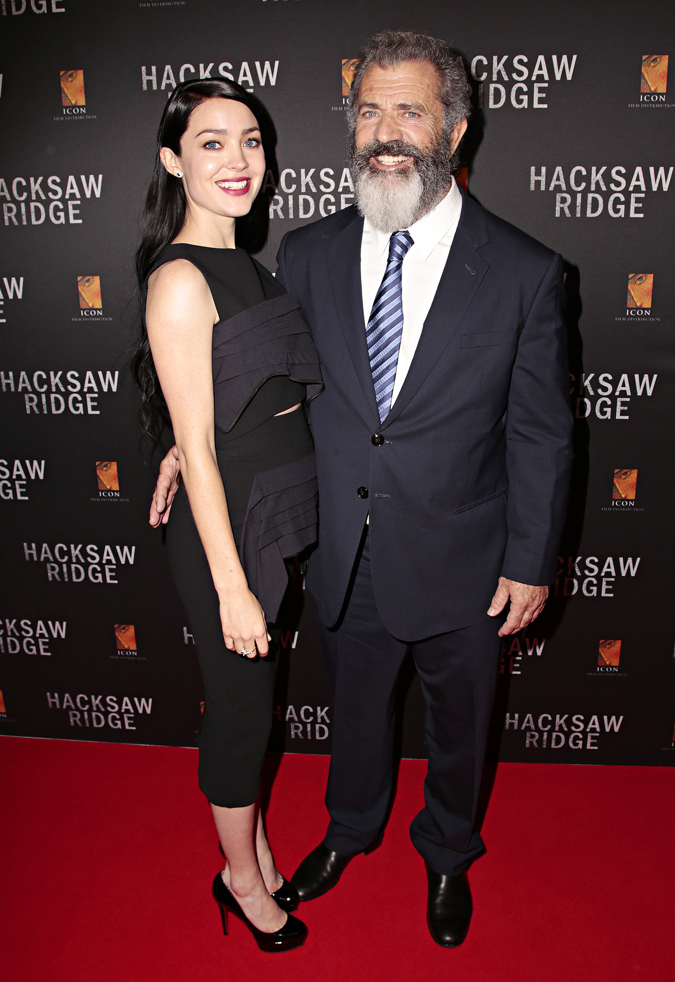 Editorial Use Only. Consent Required for Commercial Use and Book Publications Mandatory Credit: Photo by Adam Yip/Newspix/REX/Shutterstock (6334452r) Rosalind Ross and Mel Gibson 'Hacksaw Ridge' film premiere, Sydney, Australia - 16 Oct 2016