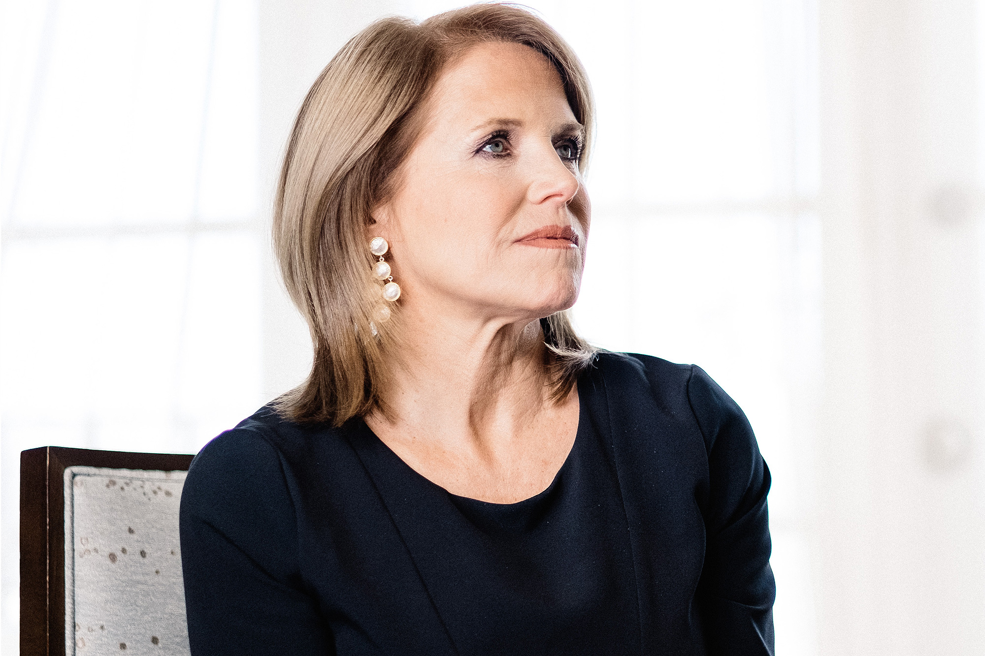 Katie Couric Exclusive Photoshoot For The EPIX Original Documentary 'Under The Gun'