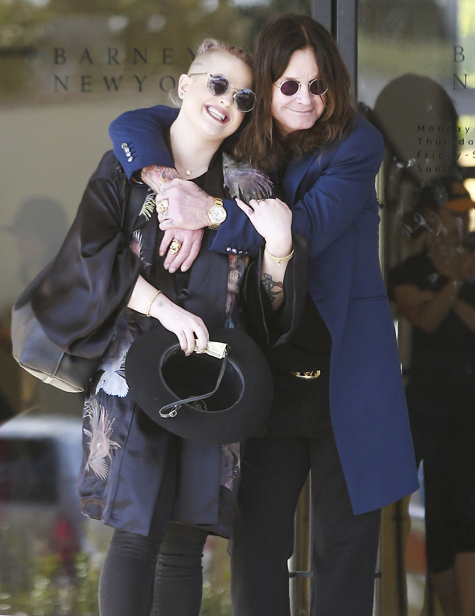 Exclusive... Ozzy Osbourne And Kelly Osbourne Shopping In Beverly Hills