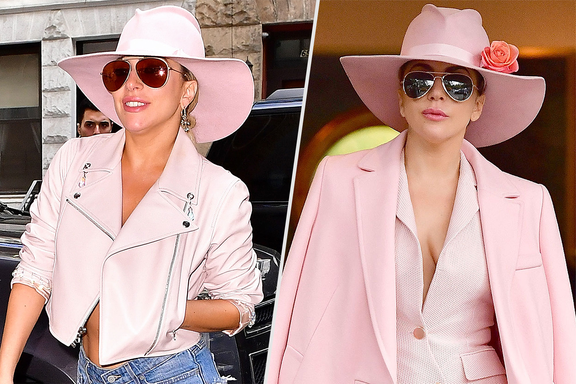 NEW YORK, NY - OCTOBER 24: Lady Gaga arrives to Joanne Trattoria restaurant on October 24, 2016 in New York City. (Photo by James Devaney/GC Images) NEW YORK, NY - OCTOBER 21: Lady Gaga seen on the streets of Manhattan on October 21, 2016 in New York City. (Photo by James Devaney/GC Images)