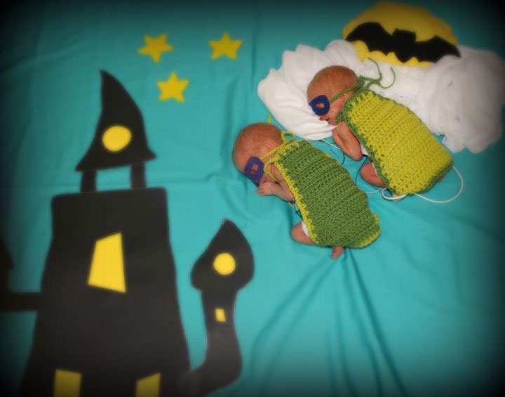 NICU Nurse dressesher tiny patients as superheroes for Halloween
