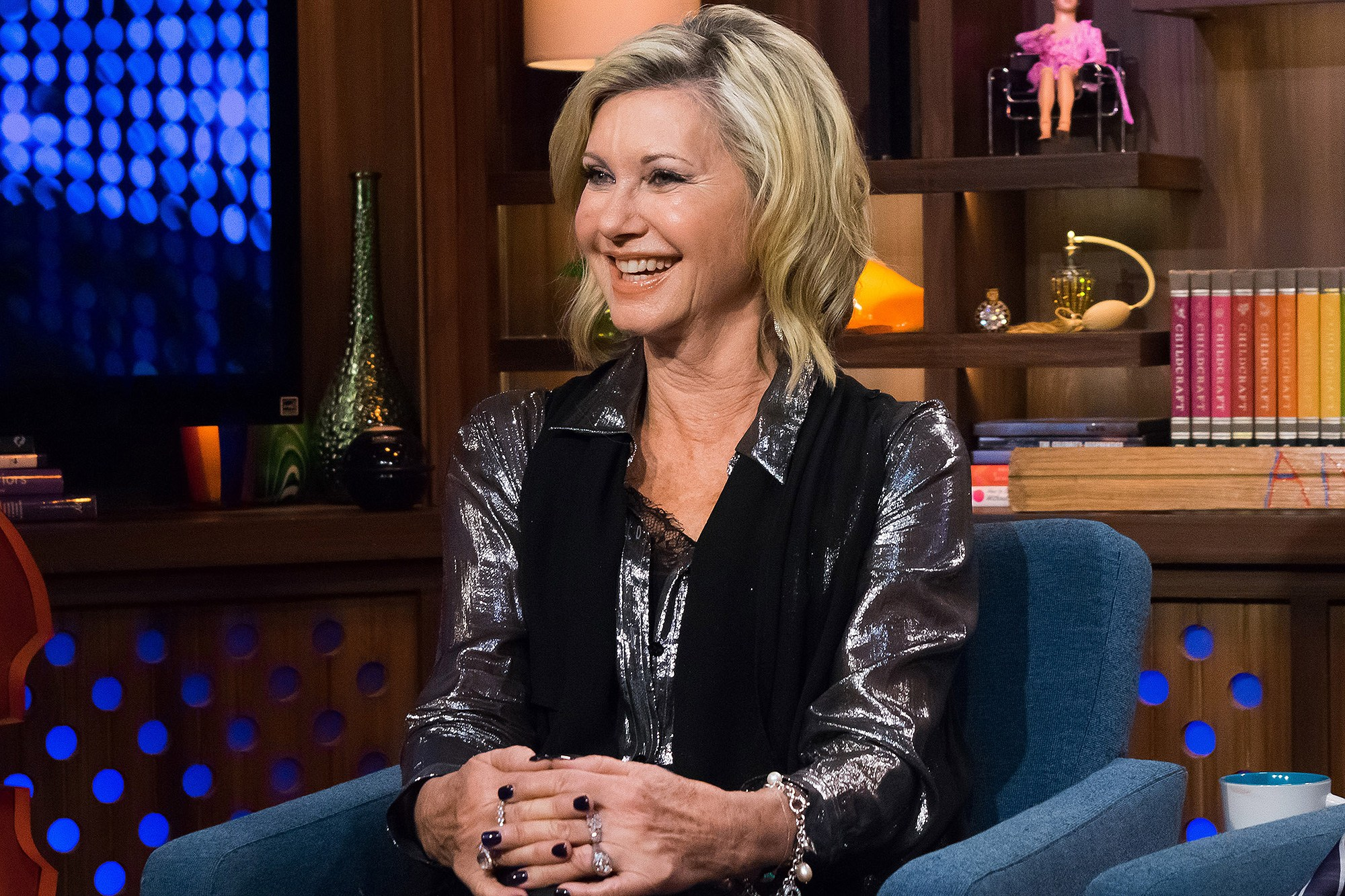 WATCH WHAT HAPPENS LIVE -- Pictured: Olivia Newton-John -- (Photo by: Charles Sykes/Bravo/NBCU Photo Bank via Getty Images)