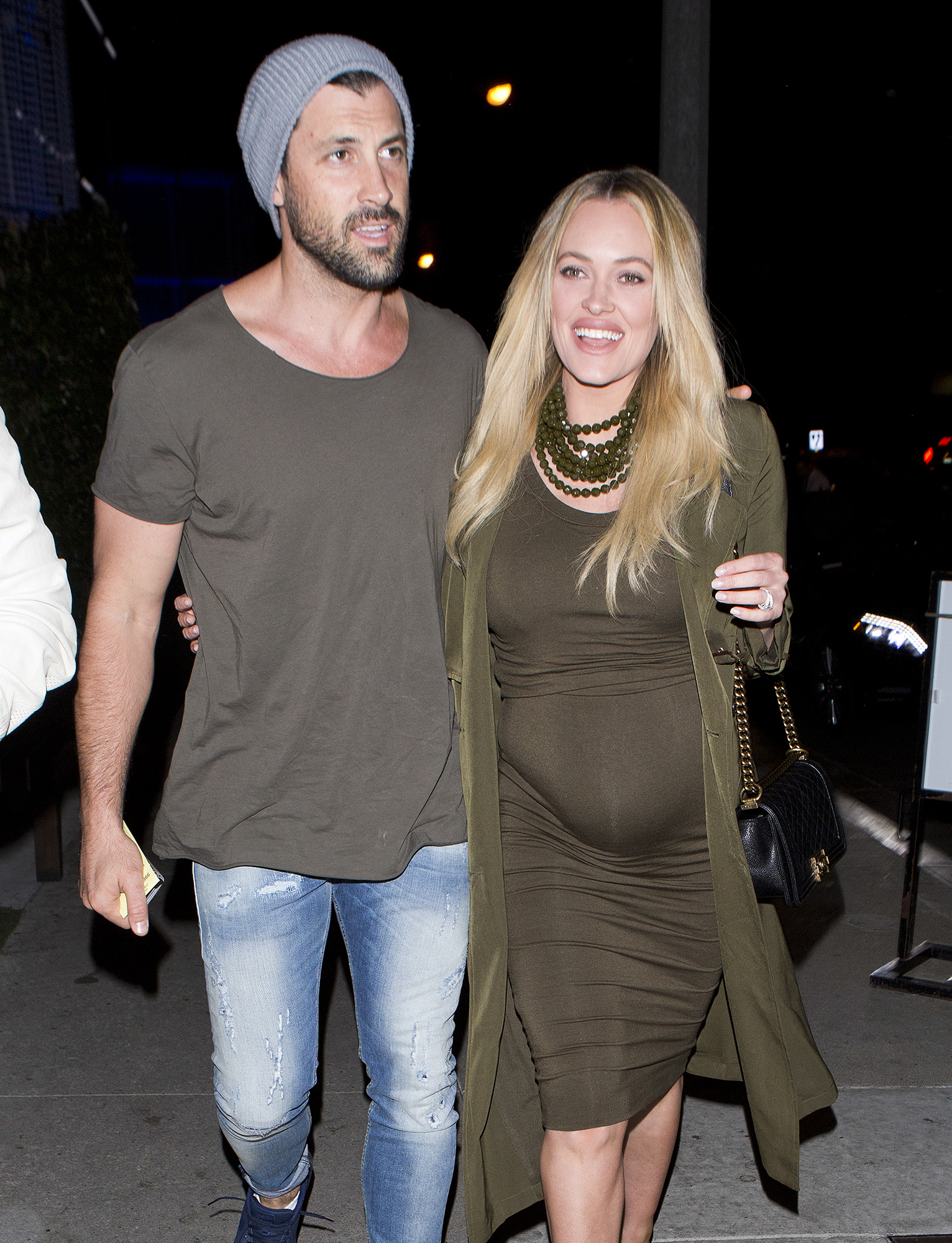 Peta Murgatroyd clearly appears to have tears in her eyes as her and partner Maksim Chmerkovskiy arrive for dinner at 'BOA' Restaurant in West Hollywood, CA