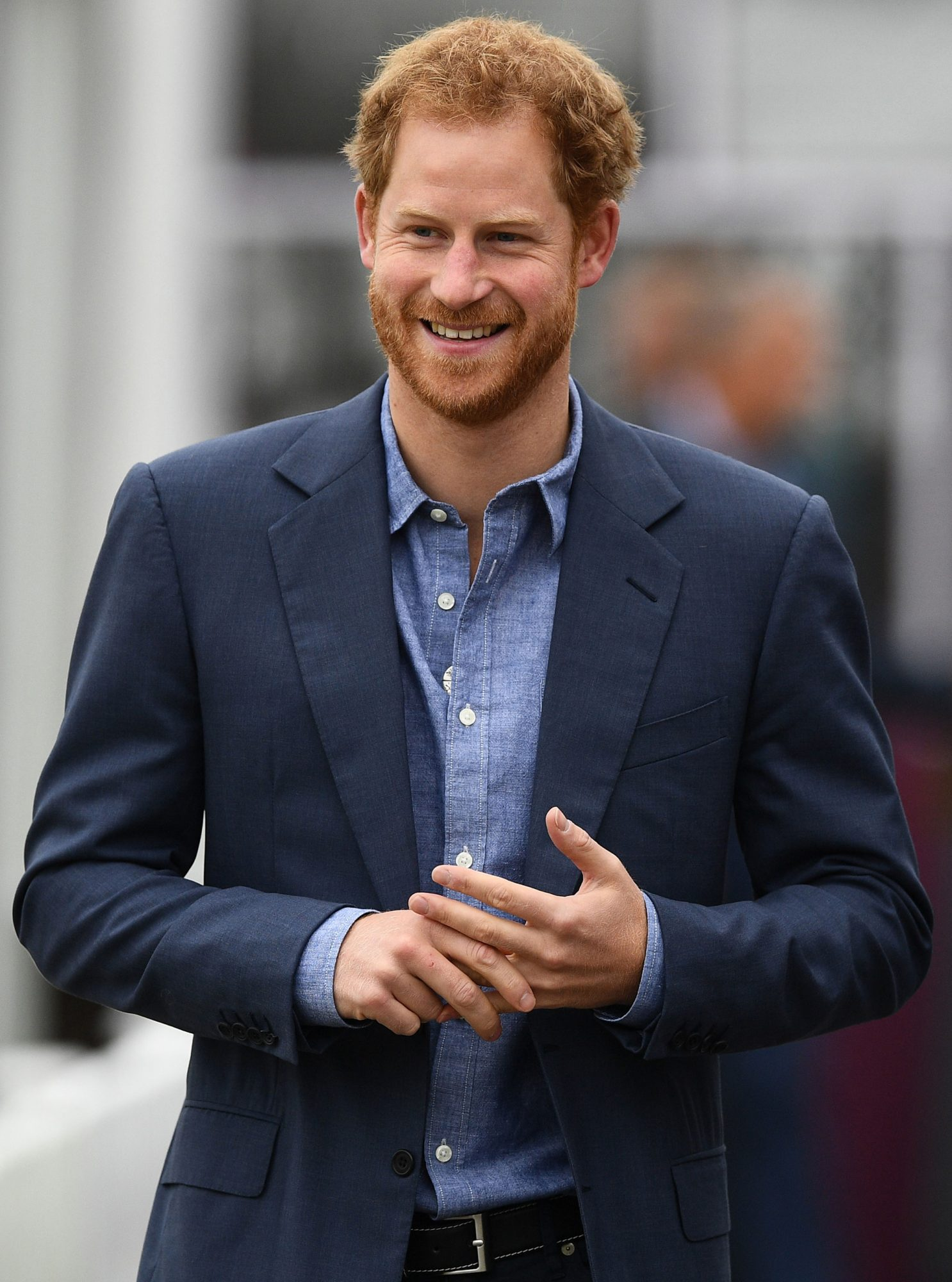 Britain's Prince Harry smiles as he arrives at Lord's cricket ground in London on October 7, 2016, to participate in a Coach Core sports coaching apprenticeship programme event. Prince Harry, Patron, attended an event at Lord's Cricket Club to mark the expansion of the Coach Core sports coaching apprenticeship programme. The Prince met with apprentices, coaches and some of the partners and supporters who are taking the successful programme to 100 partners across the UK by Spring 2017. / AFP / JUSTIN TALLIS (Photo credit should read JUSTIN TALLIS/AFP/Getty Images)