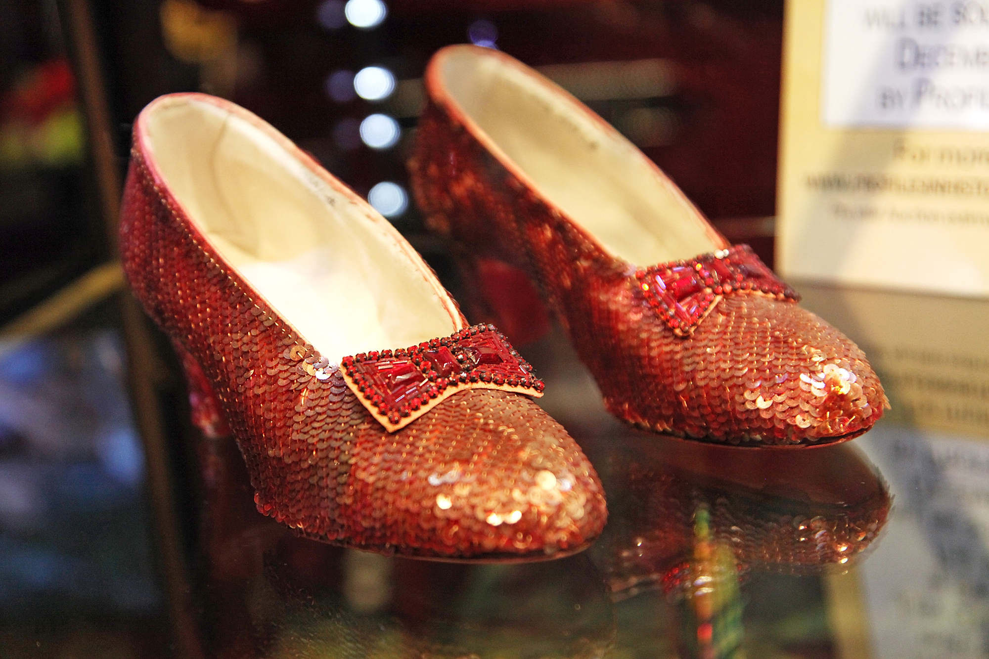 """Iconic Ruby Slippers From """"The Wizard Oz"""" Unveiled In Beverly Hills"""
