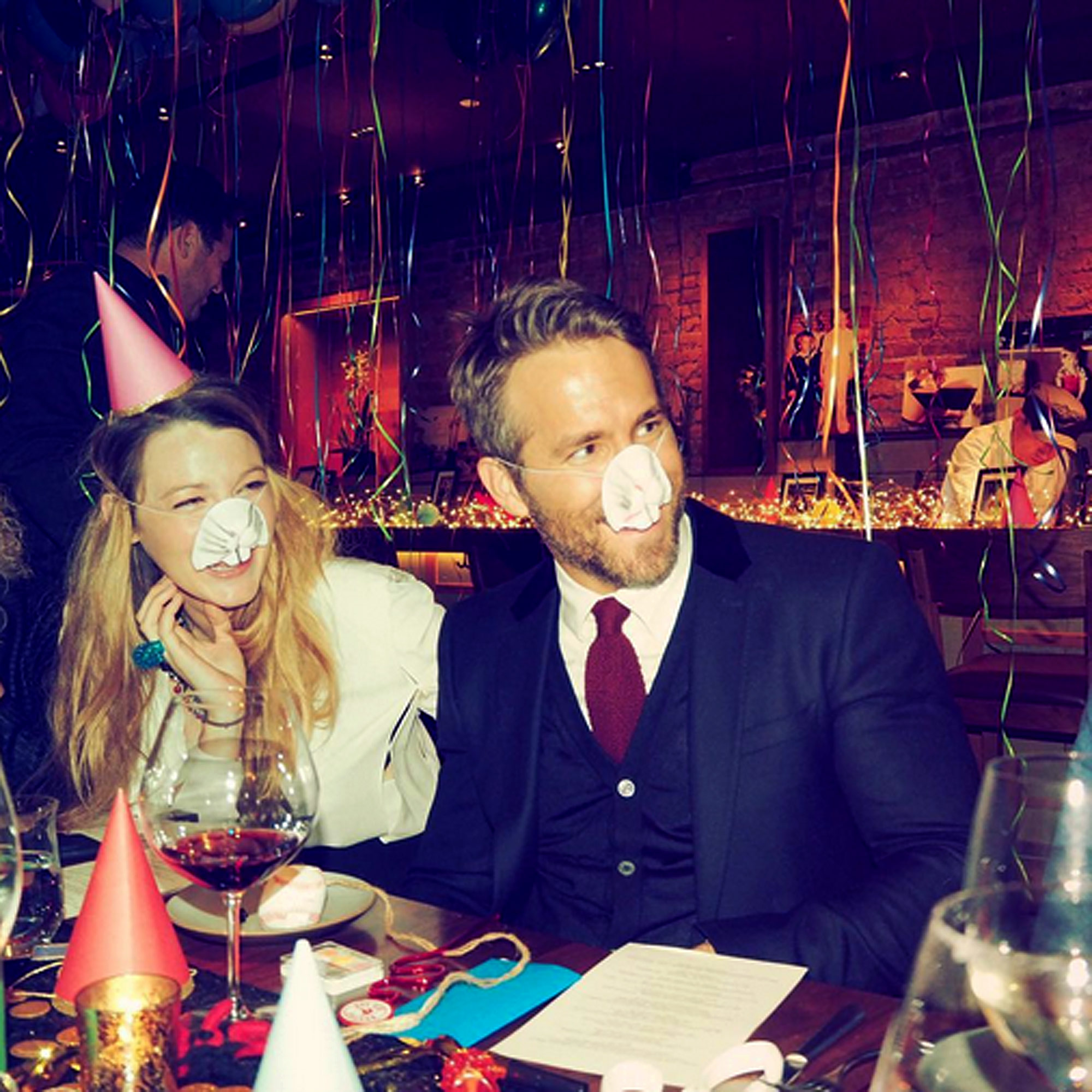 https://www.instagram.com/p/BMApAOSh9Ty/ vancityreynolds Best. Birthday. Everrrrr. Courtesy of my wife, buddy, and international spy, @blakelively. With huge thanks to my favorite restaurant in NYC, @_o_ya_ -- and a special shout out to our children for not ruining everything like they planned. Blake Lively and Ryan Reynolds celebrate his birthday.