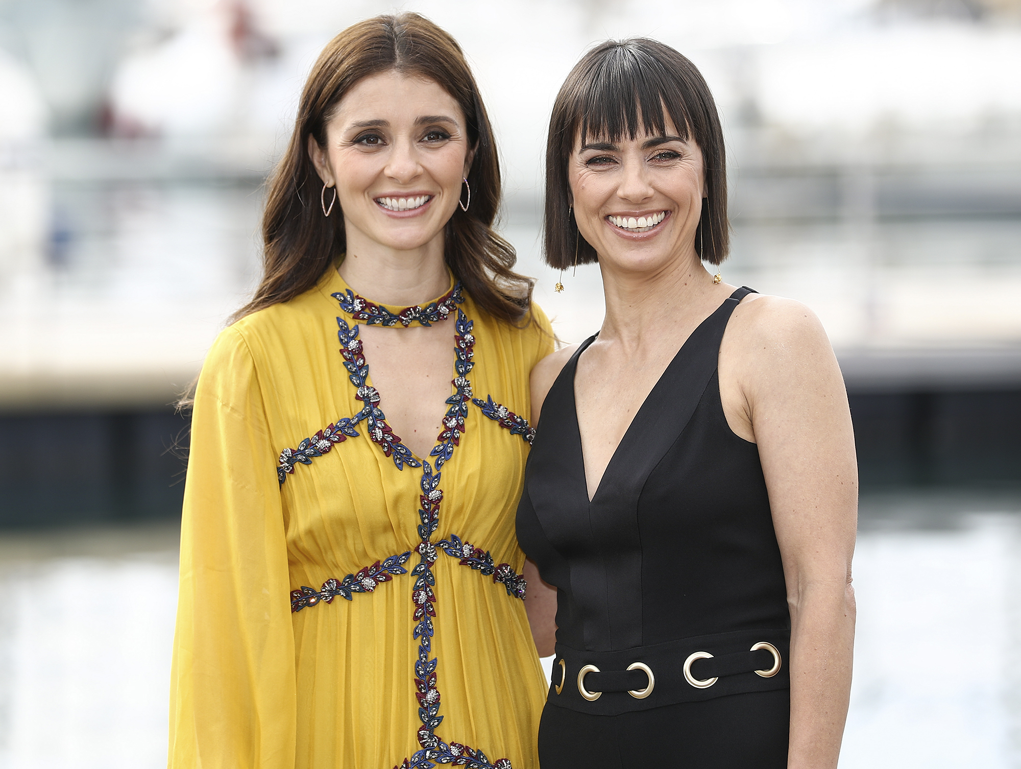Constance Zimmer, Shiri Appleby during photocall of 'UNREALî for 2016 MIPCOM
