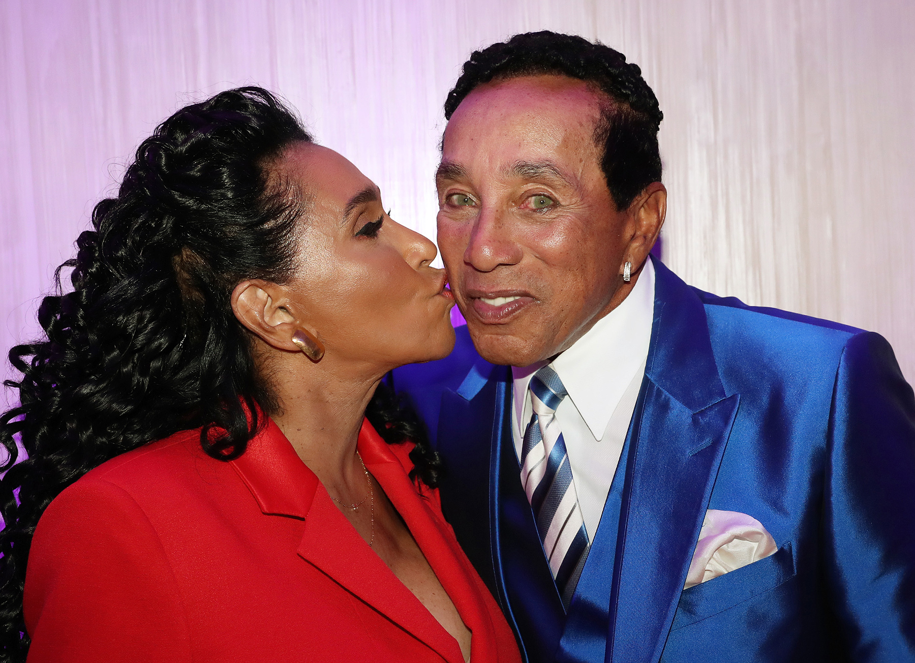 NEW YORK, NY - OCTOBER 19: (L-R) Frances Glandney Robinson and Smokey Robinson attend the Skinphonics Launch on October 19, 2016 in New York City. (Photo by Johnny Nunez/WireImage)