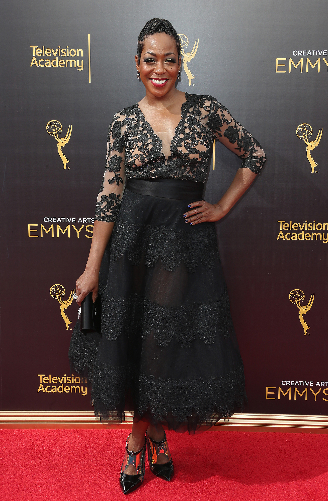 LOS ANGELES, CA - SEPTEMBER 10: Actress Tichina Arnold attends the 2016 Creative Arts Emmy Awards at Microsoft Theater on September 10, 2016 in Los Angeles, California. (Photo by Frederick M. Brown/Getty Images)