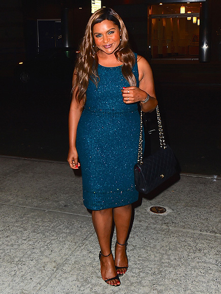 Mindy Kaling wears Teal Dress as she steps out to Promote her new book on Watch What Happens Live