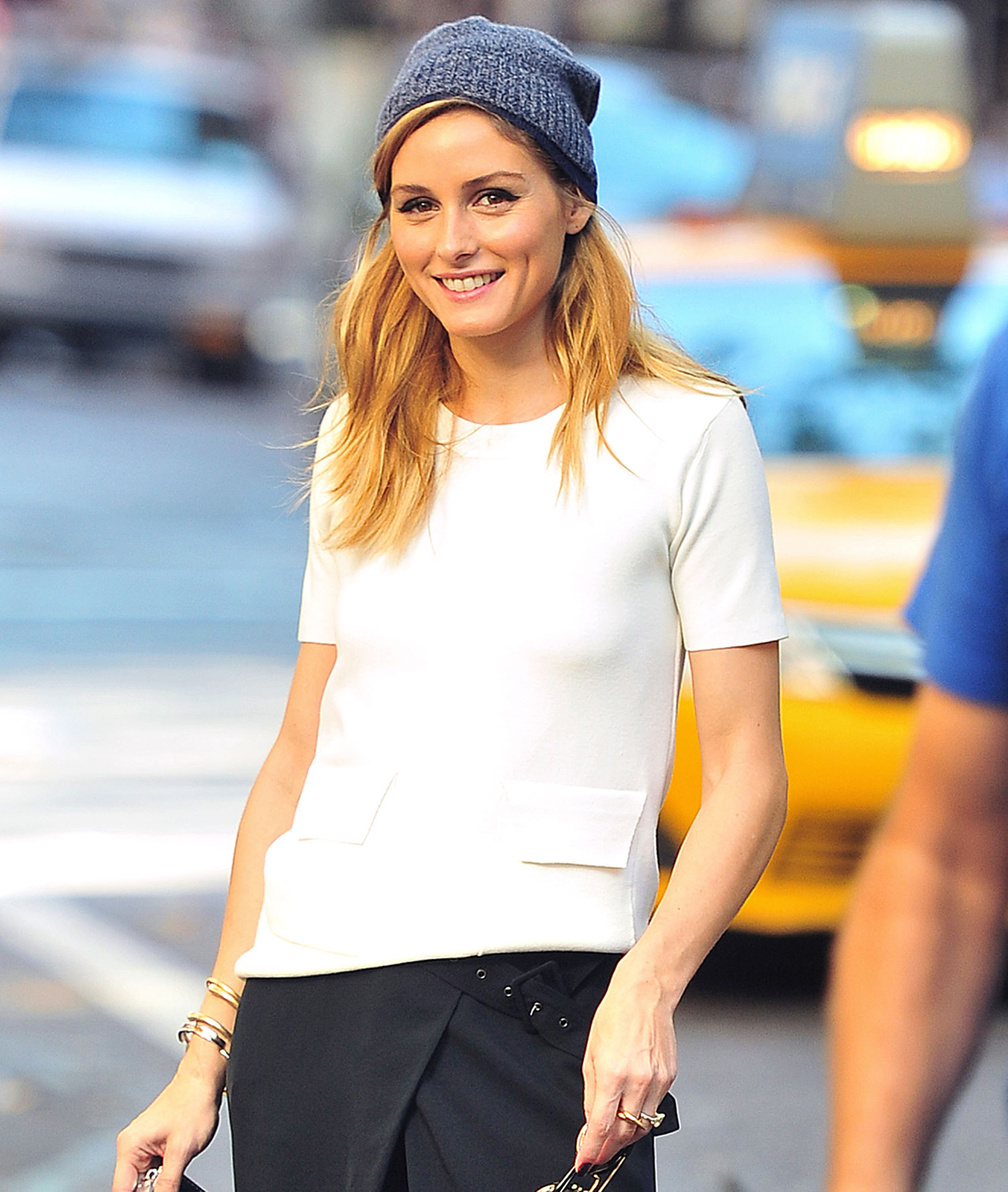 Olivia Palermo is all smiles as she hangs out in SoHo, NYC