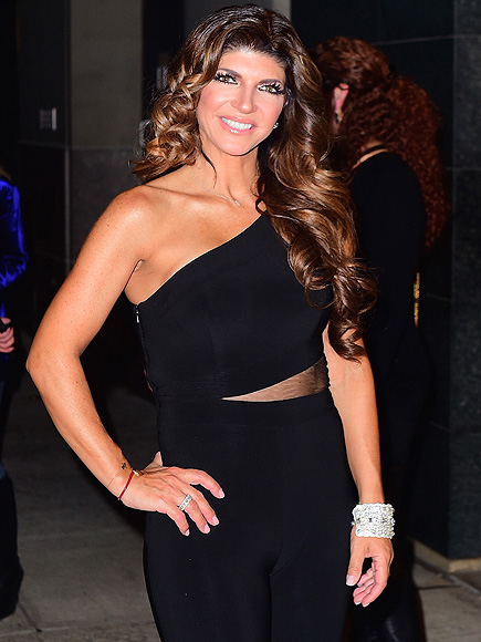 EXCLUSIVE: Teresa Giudice Has a Big Smile as she leaves Watch What Happens Live wearing a Cut-out Body suit