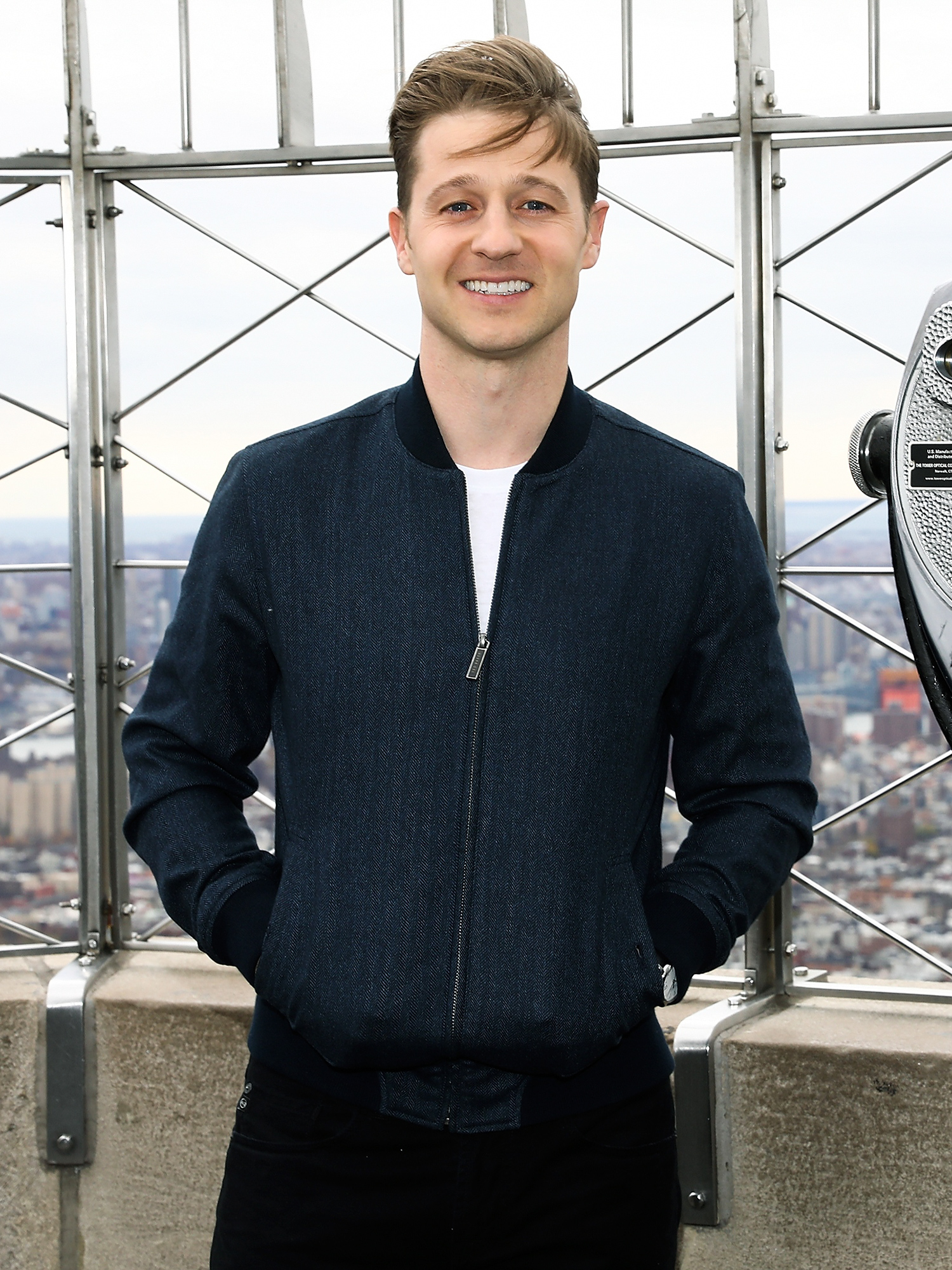 """Ben McKenzie Visits The Empire State Building To Promote """"Gotham"""""""