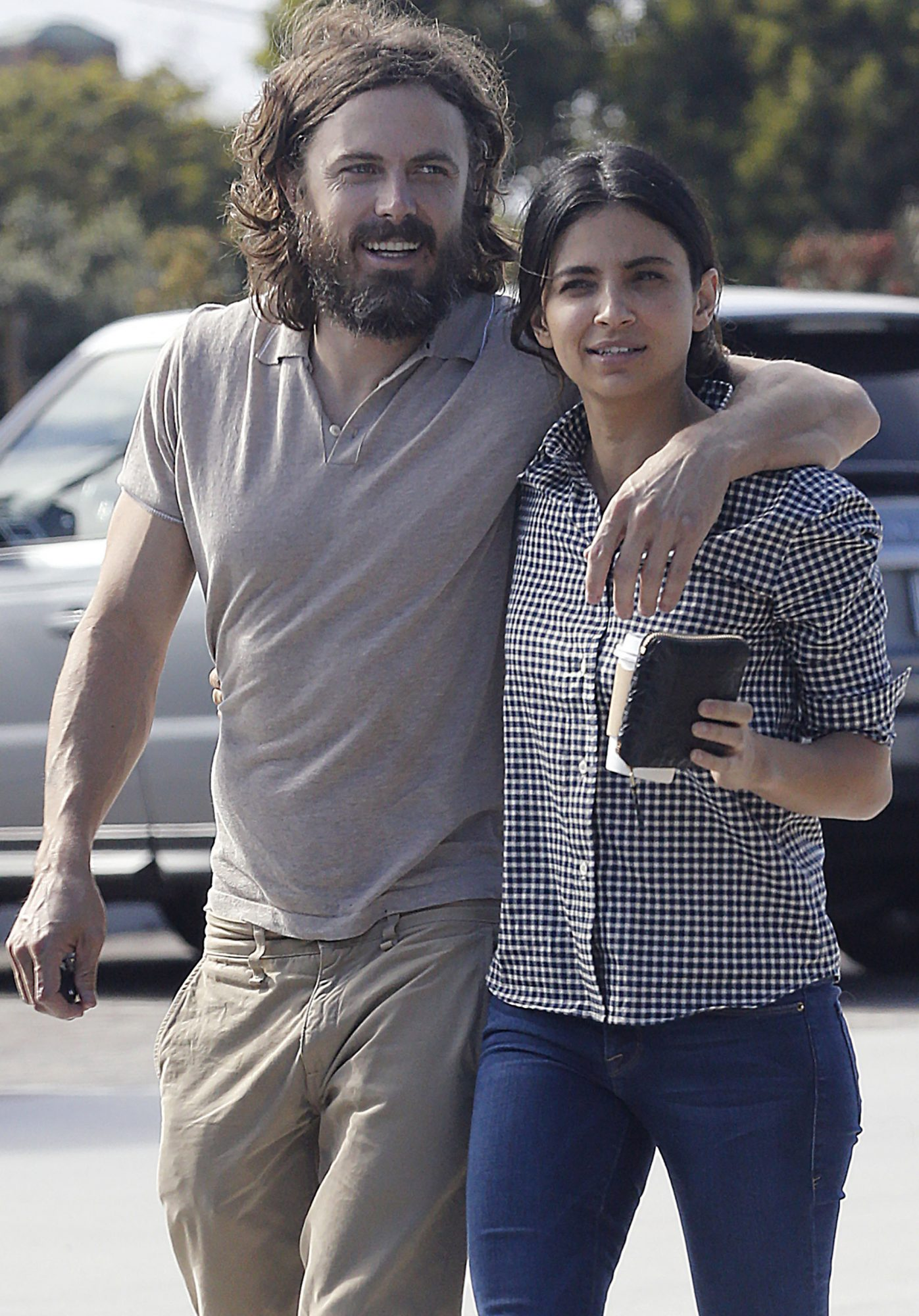 Exclusive... Casey Affleck And Floriana Lima Hit A Local Market In Malibu