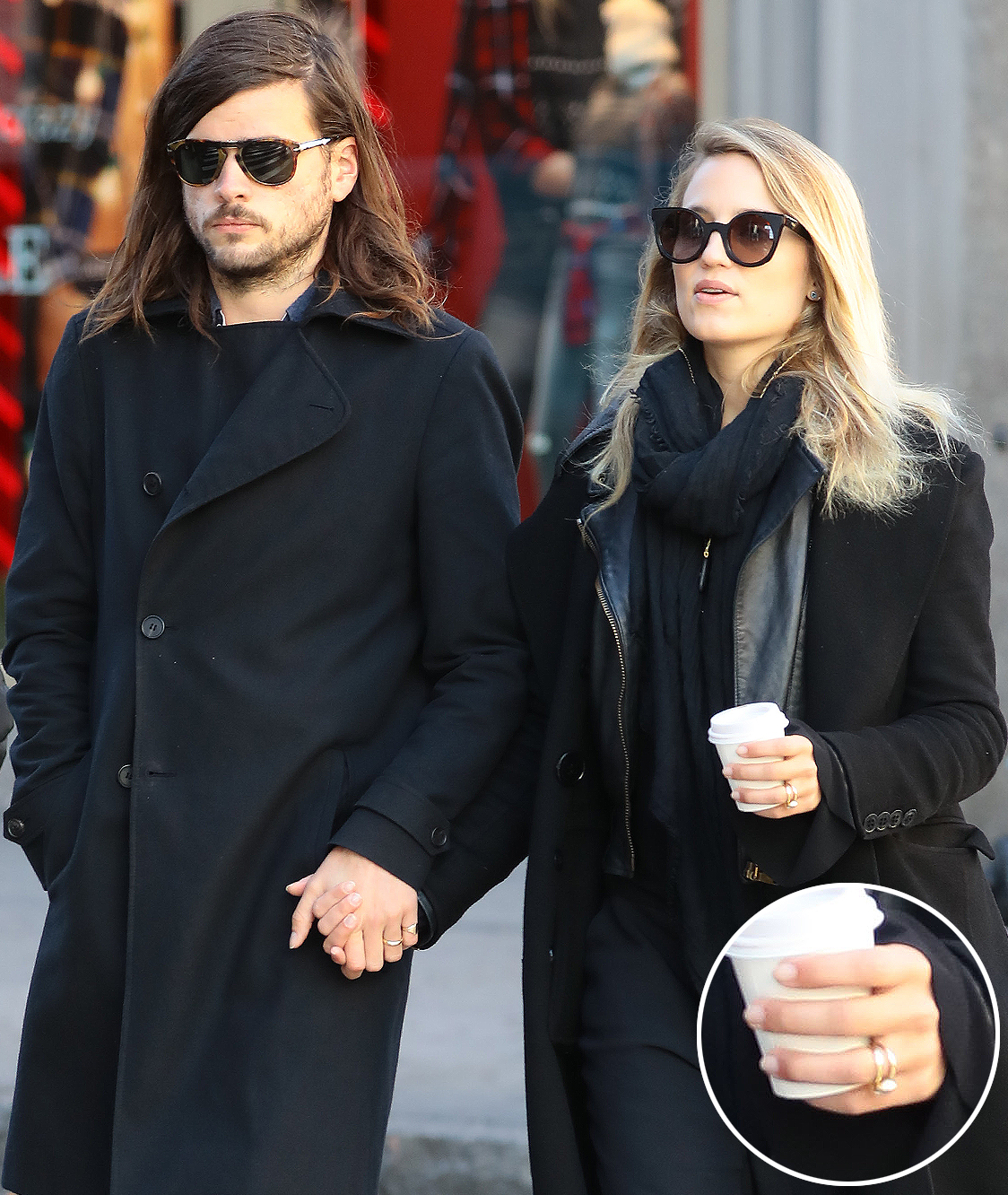 EXCLUSIVE: New married Dianna Agron and Winston Marshall hold hands as they are seen in New York