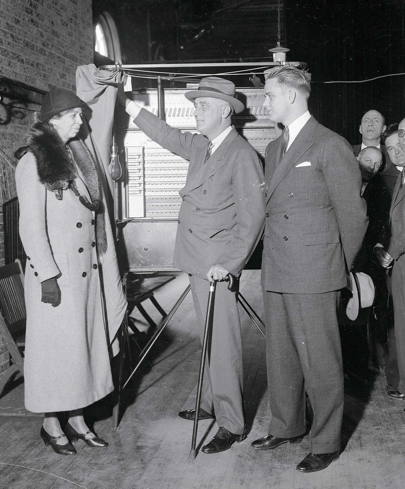 Eleanor and Elliott Roosevelt at Polling Place