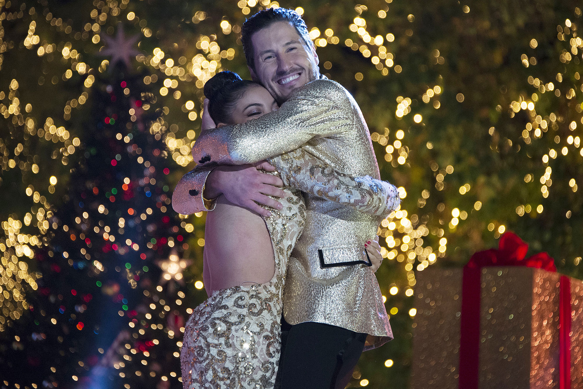 "DANCING WITH THE STARS - ""Episodes 2312 - The remaining three couples will have one last night of competitive dancing as they perform a ""24-Hour Fusion Challenge,"" vying to score some extra judges' points, and one couple will be crowned the ""Dancing with the Stars"" champion, culminating an incredible season, which will be announced live from The Grove on TUESDAY, NOVEMBER 22 (9:00-11:00 p.m. EST), on the ABC Television Network. (Eric McCandless/ABC via Getty Images) LAURIE HERNANDEZ, VALENTIN CHMERKOVSKIY"