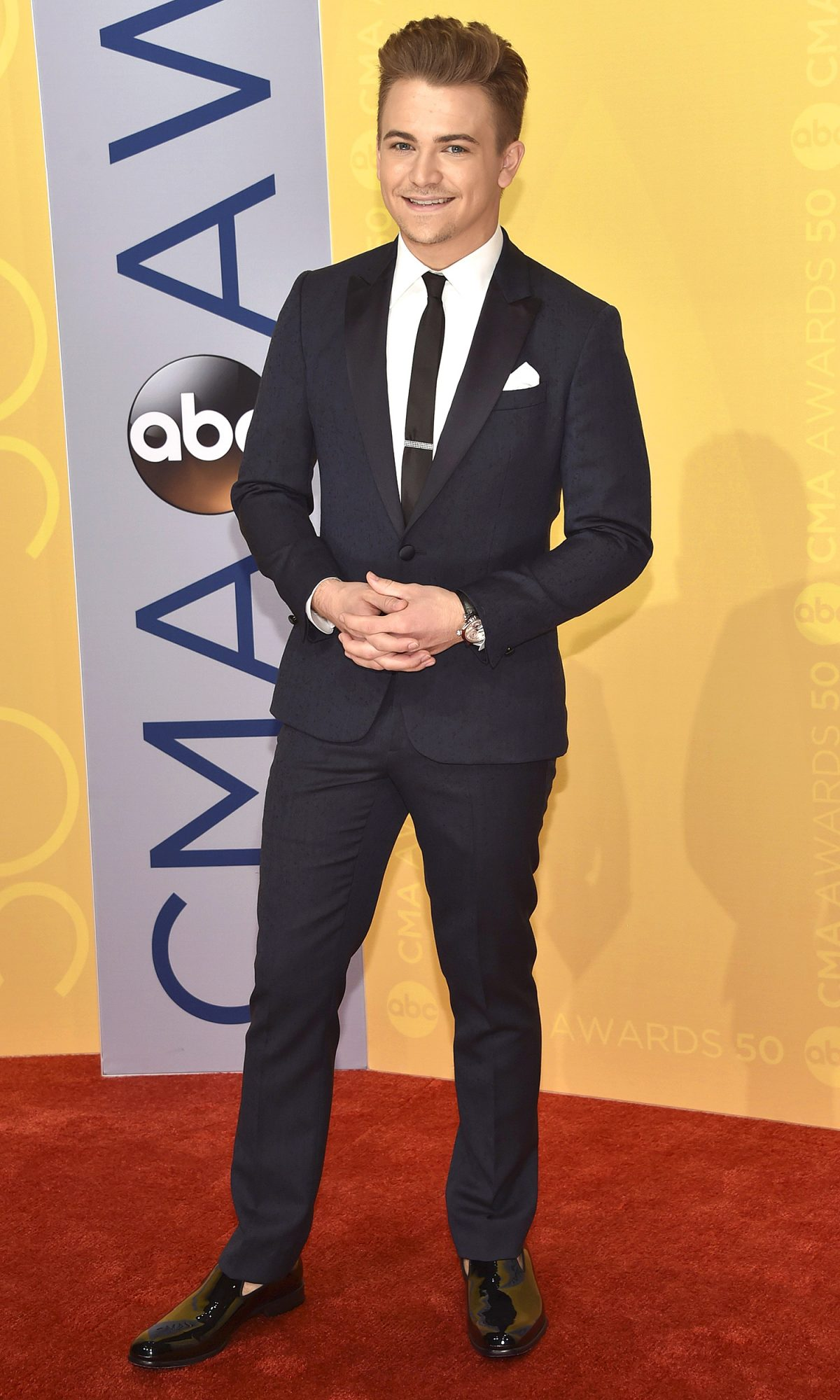 Hunter Hayes arrives at the 50th annual CMA Awards at the Bridgestone Arena on Wednesday, Nov. 2, 2016, in Nashville, Tenn. (Photo by Evan Agostini/Invision/AP)