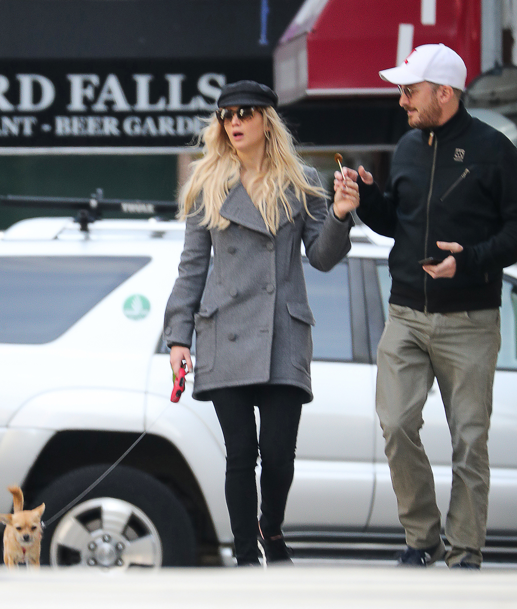 PREMIUM EXCLUSIVE: Jennifer Lawrence is spotted sharing a lollipop on a romantic walk with rumored love interest Darren Aronfsky in New York City.