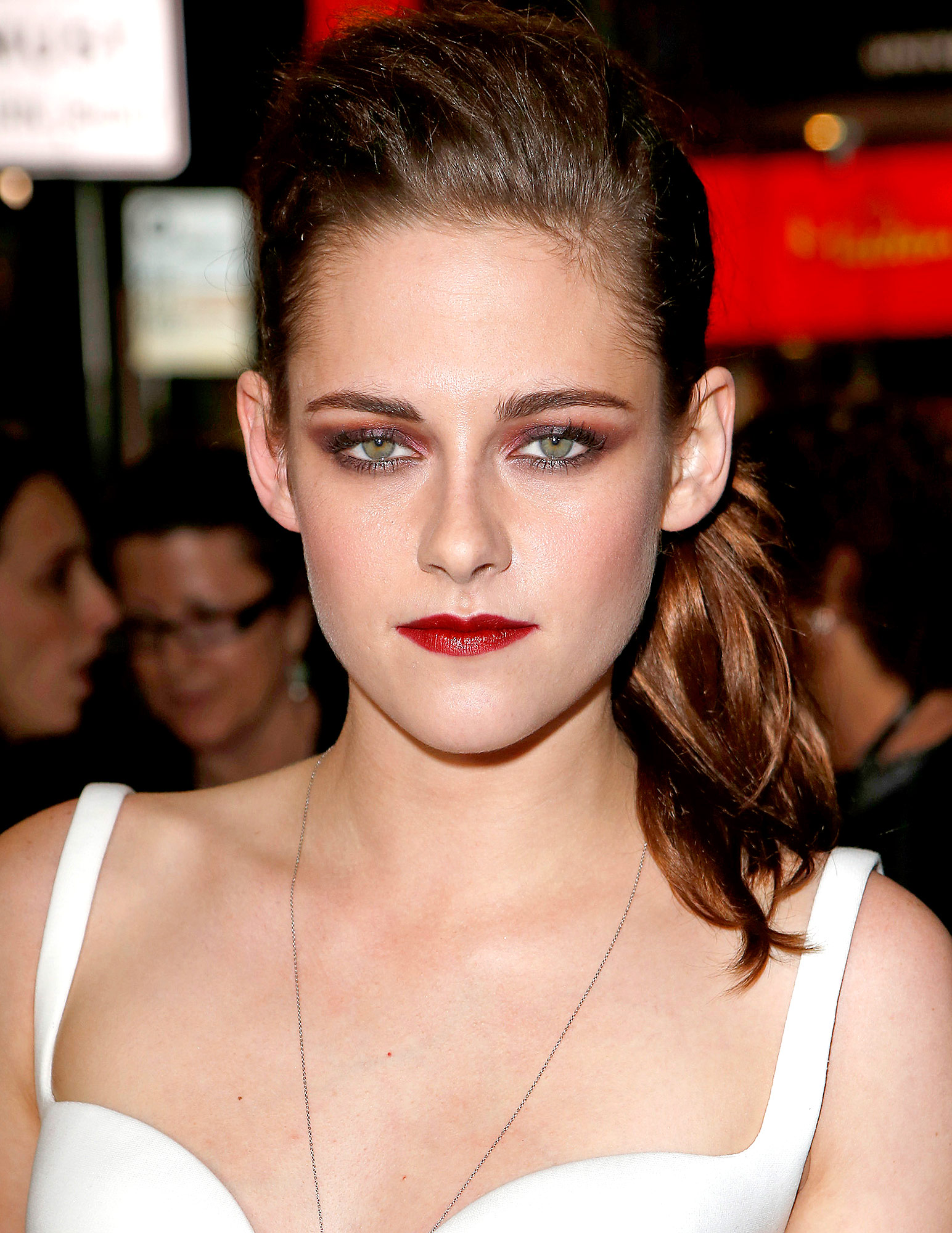 """HOLLYWOOD, CA - NOVEMBER 03: Actress Kristen Stewart arrives at the gala screening of """"On The Road"""" during the 2012 AFI Fest at Grauman's Chinese Theatre on November 3, 2012 in Hollywood, California. (Photo by Jeff Vespa/WireImage)"""