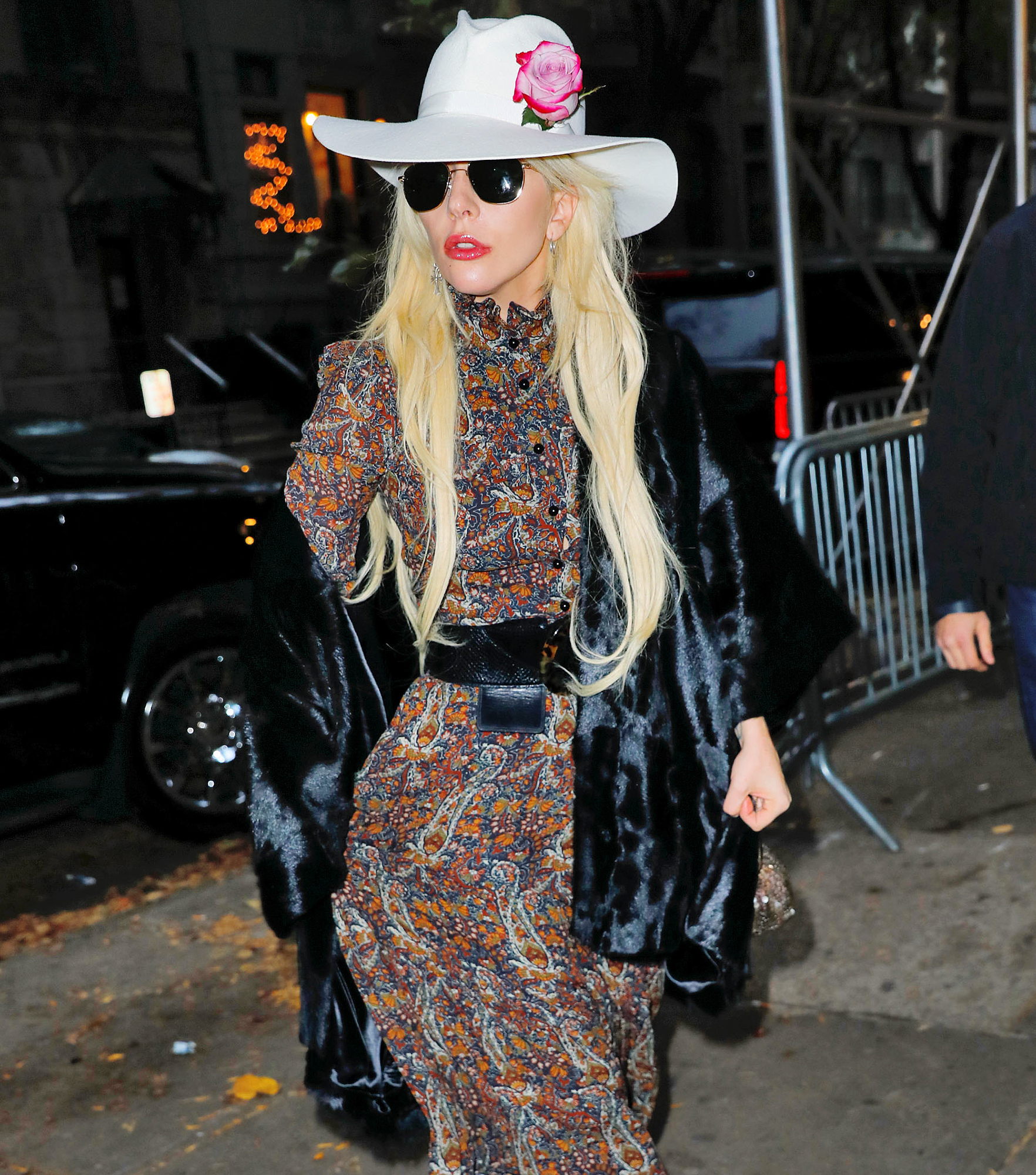 Lady Gaga steps out of her apartment for Thanksgiving festivities in NYC