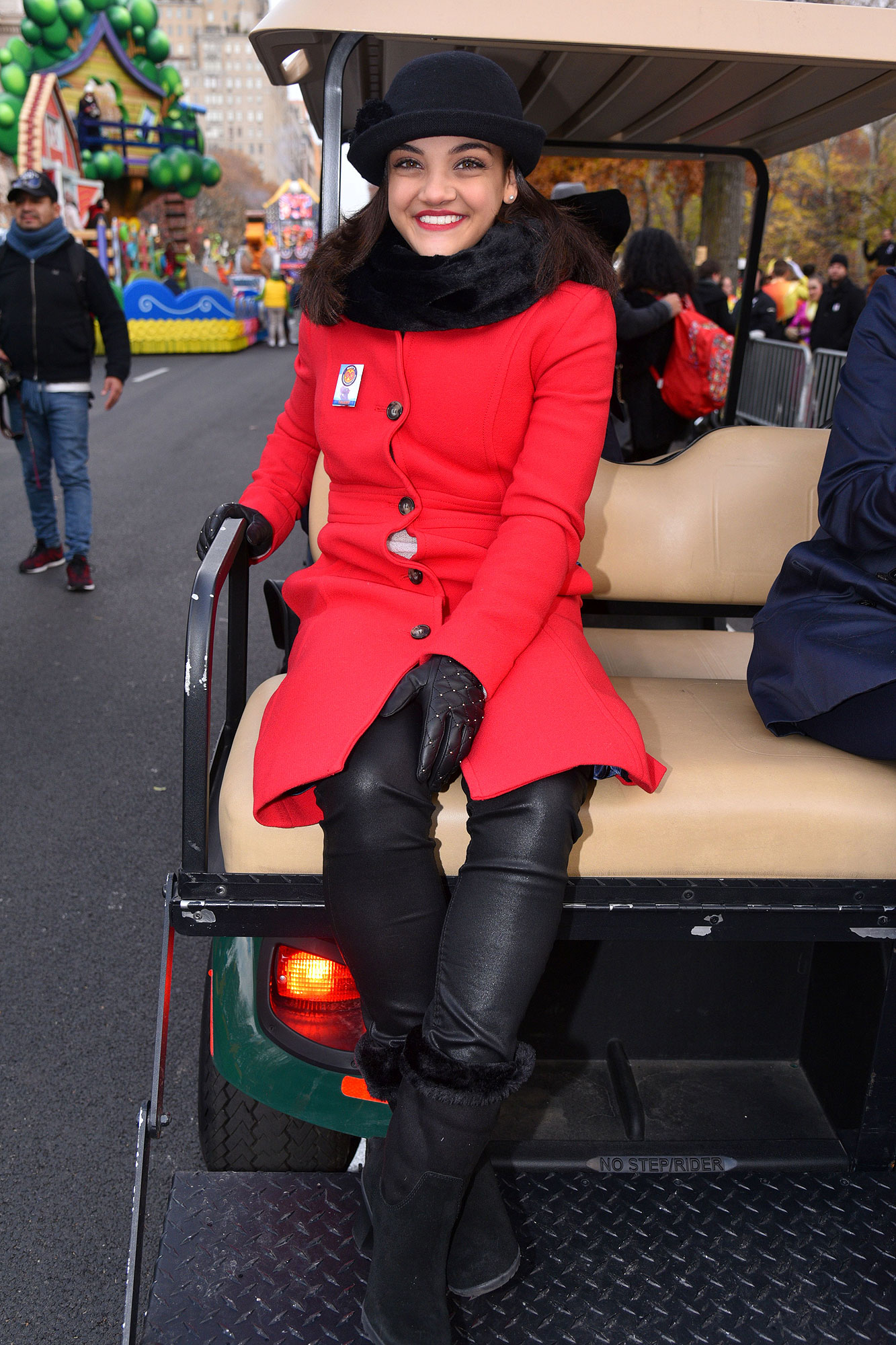 Laurie Hernandez Macy's Thanksgiving Day Parade, New York, USA - 24 Nov 2016