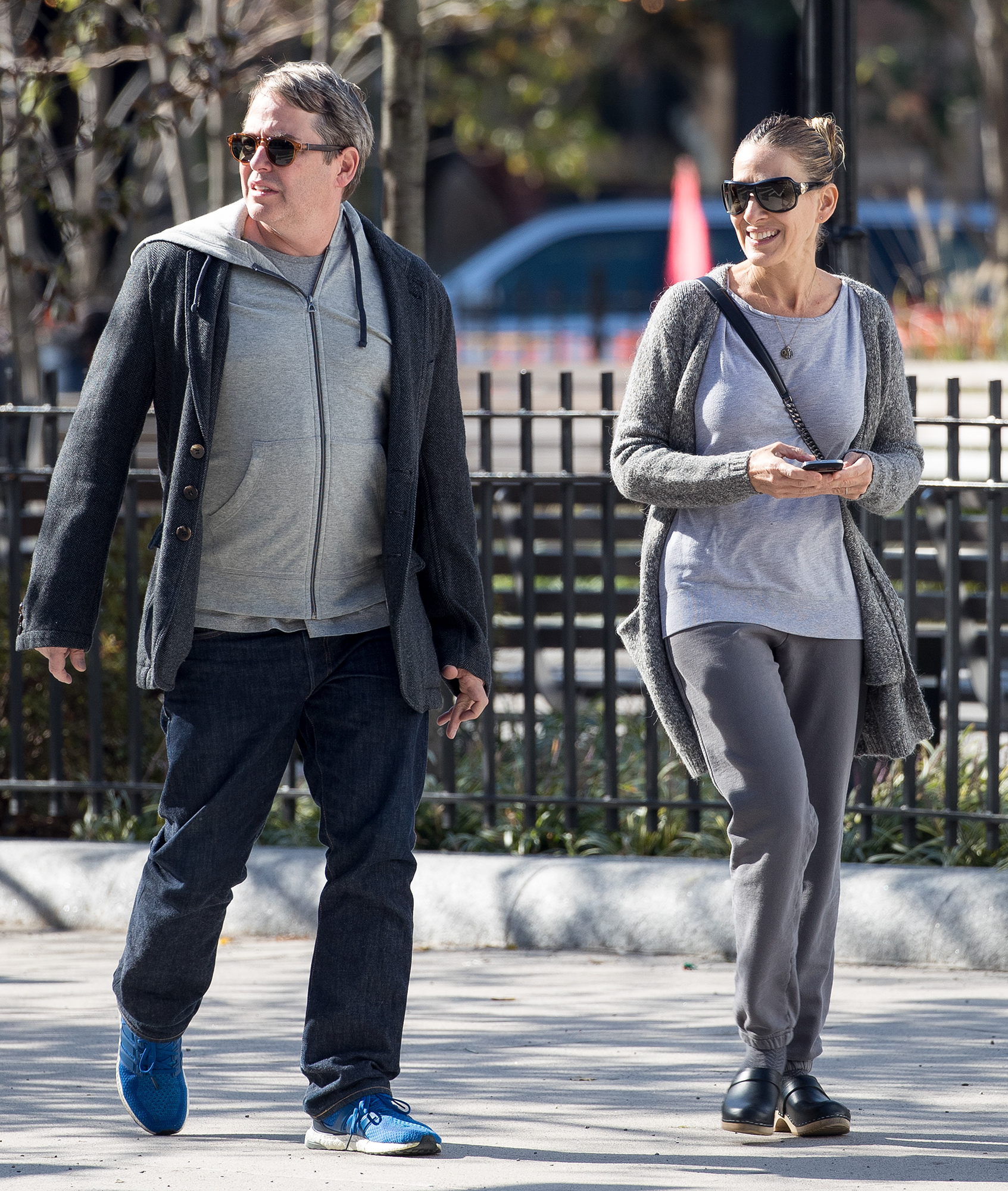 EXCLUSIVE: Sarah Jessica Parker and Matthew Broderick in New York.