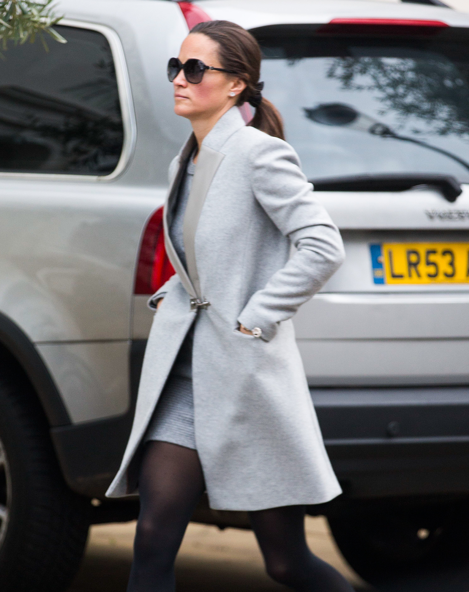 EXCLUSIVE: Pippa Middleton is spotted out in west London