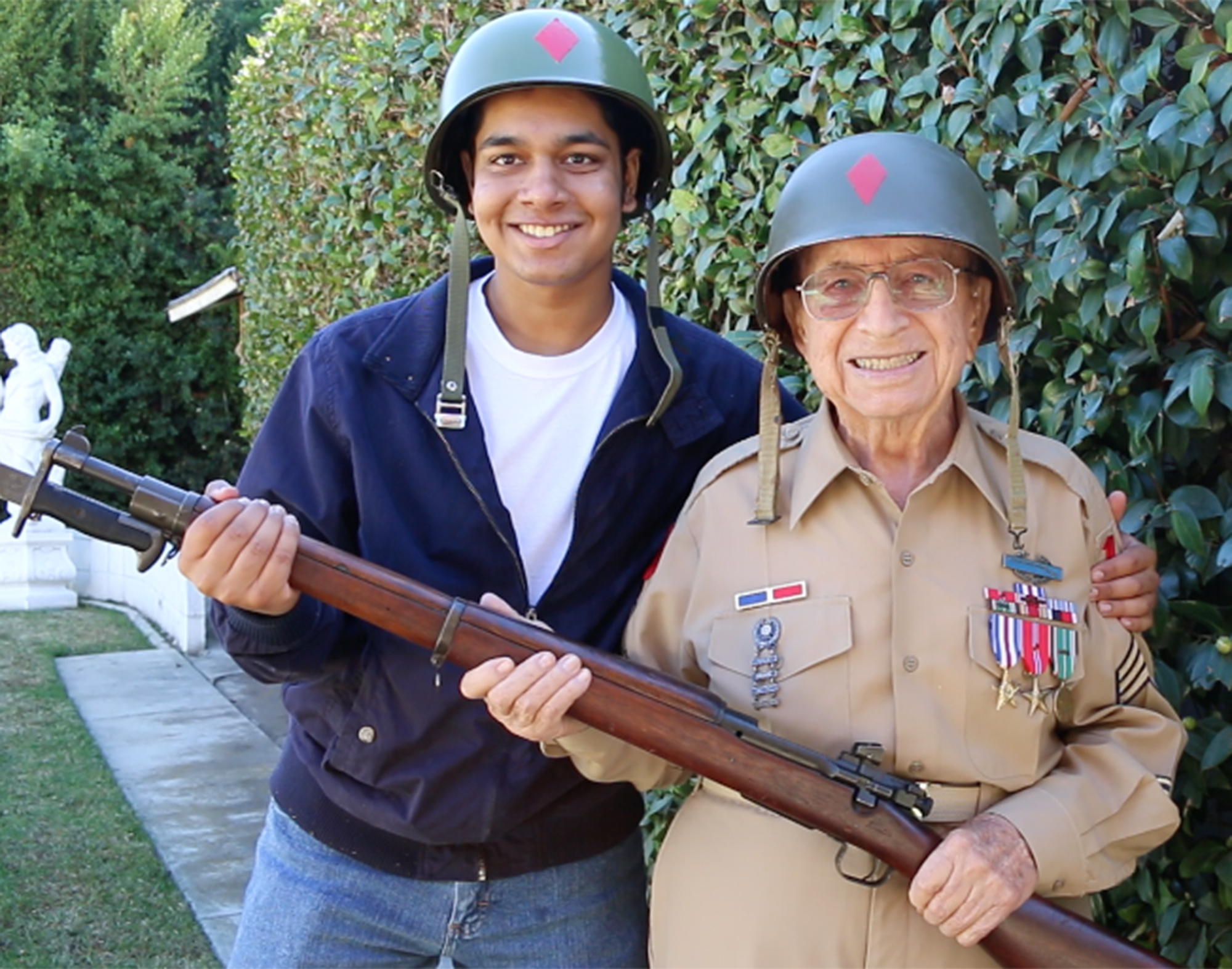 Rishi Sharma who made it his life mission to interview WWII vets before they all pass away
