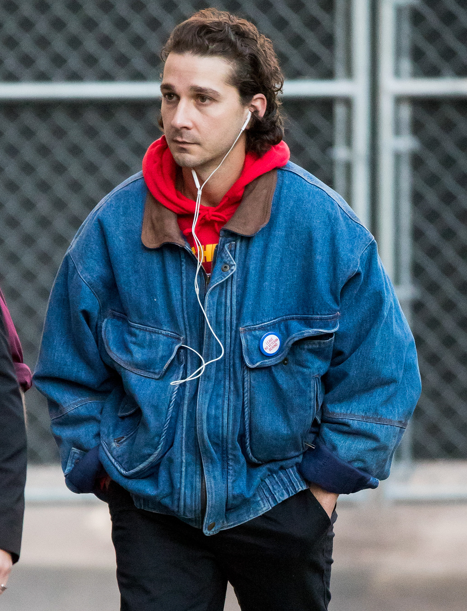 Shia LaBeouf is spotted arriving at 'Jimmy Kimmel Live'