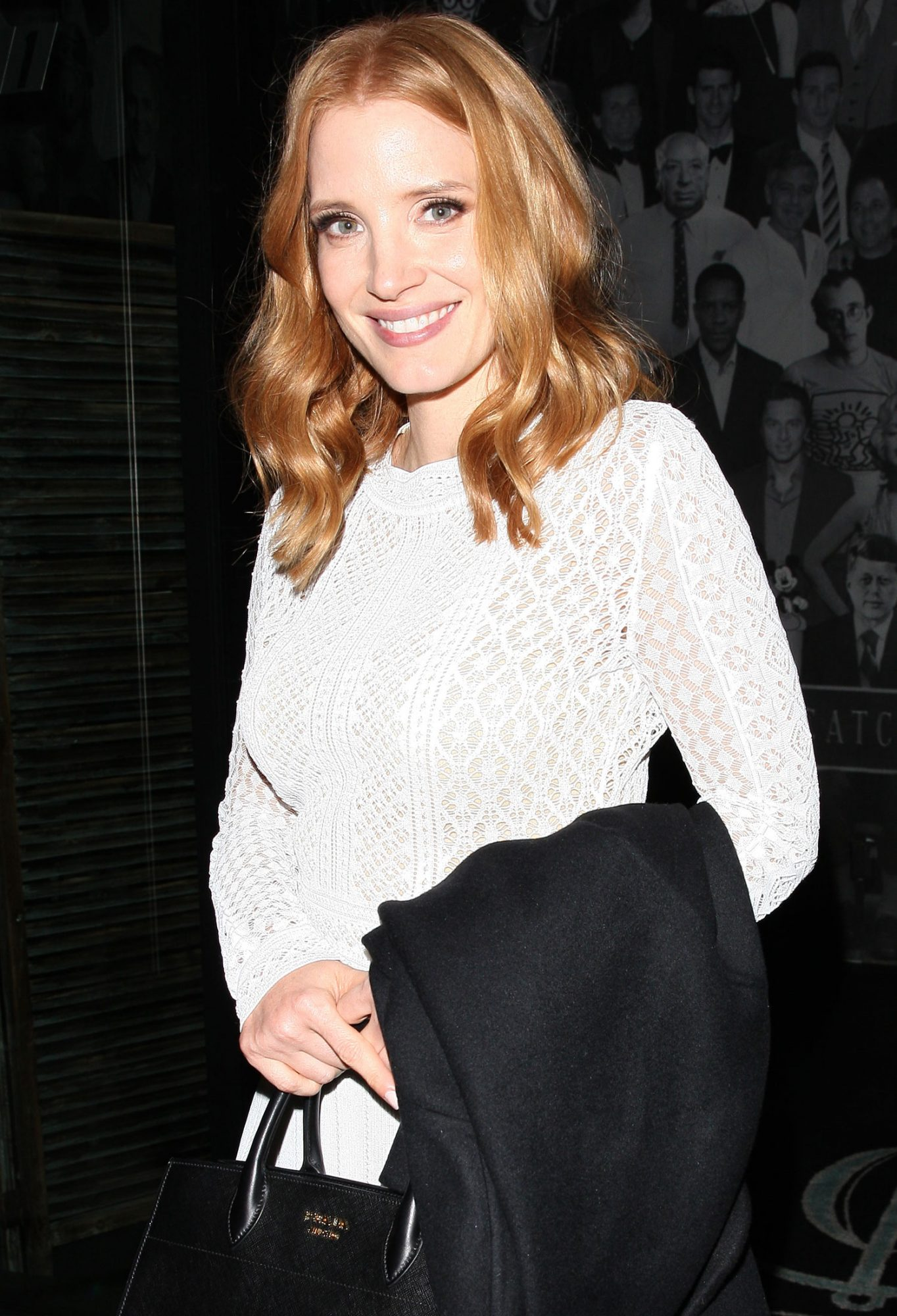 Jessica Chastain leaves 'Catch' restaurant with her friends in West Hollywood