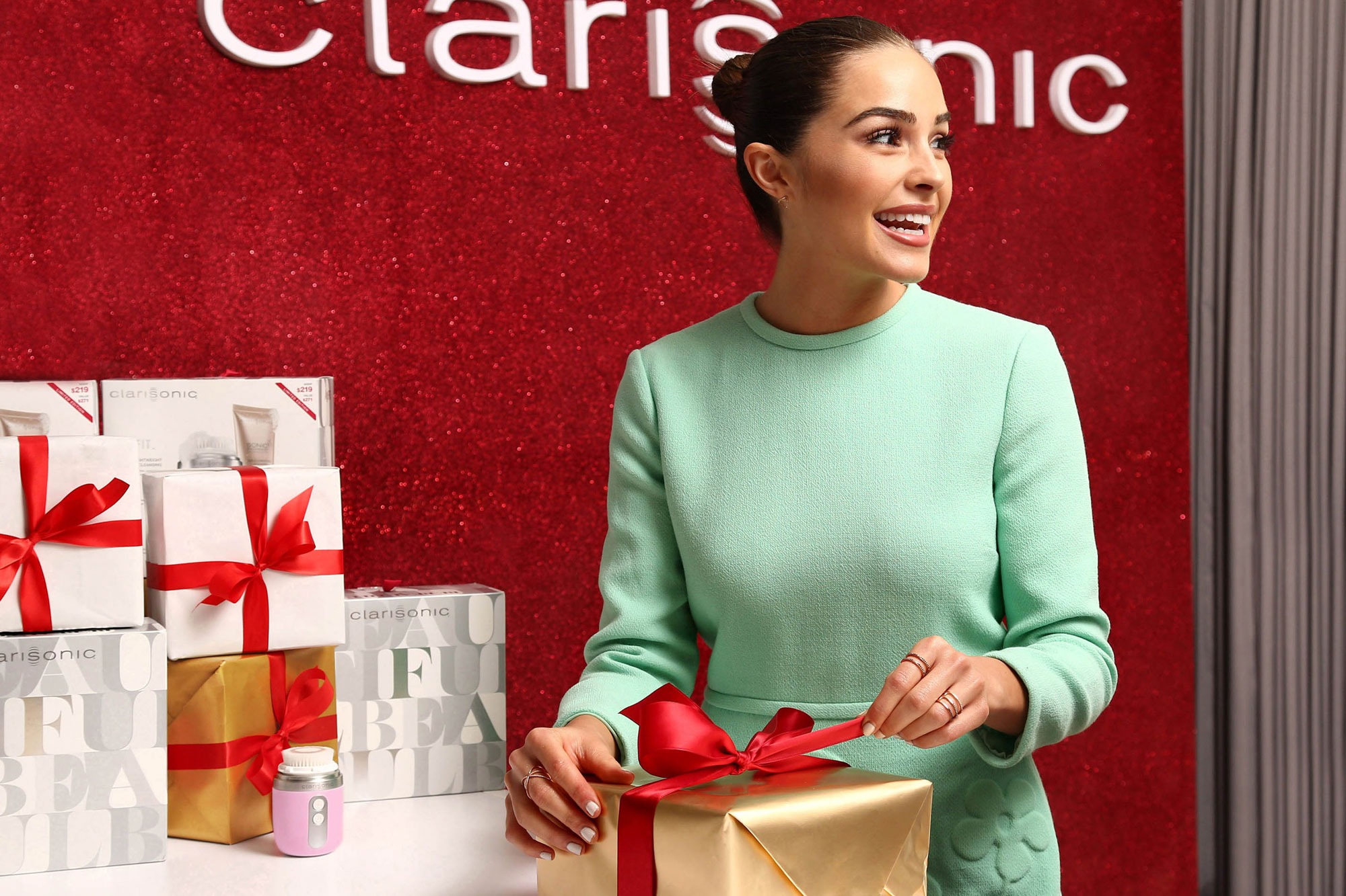 Olivia Culpo Shops at the Clarisonic Mia FIT Holiday Event