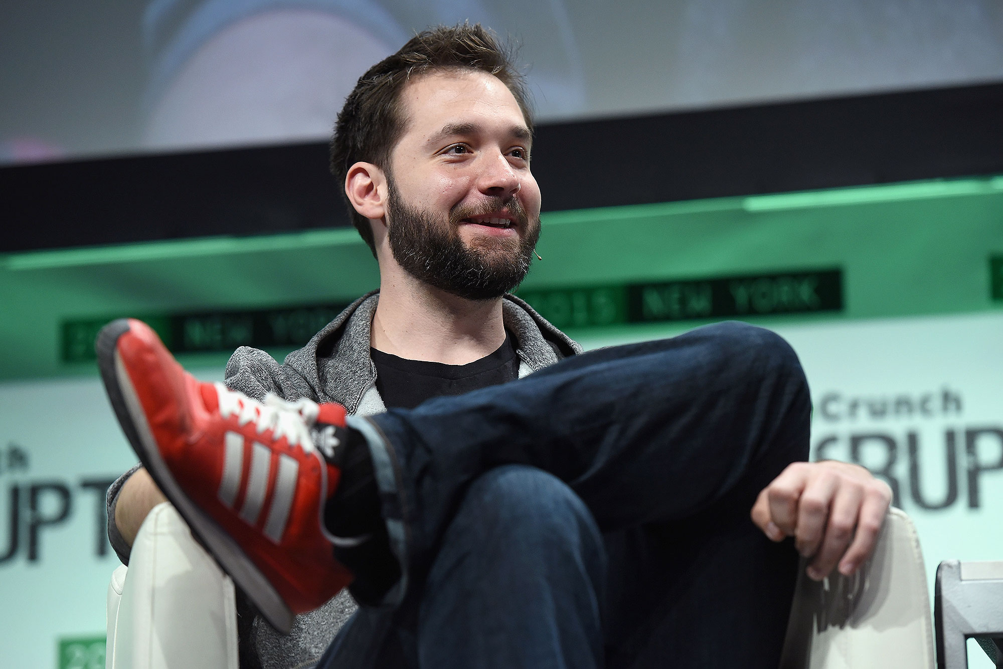 NEW YORK, NY - MAY 06: Co-Founder and Executive Chair of Reddit, and Partner at Y Combinator, Alexis Ohanian speaks onstage during TechCrunch Disrupt NY 2015 - Day 3 at The Manhattan Center on May 6, 2015 in New York City. (Photo by Noam Galai/Getty Images for TechCrunch)