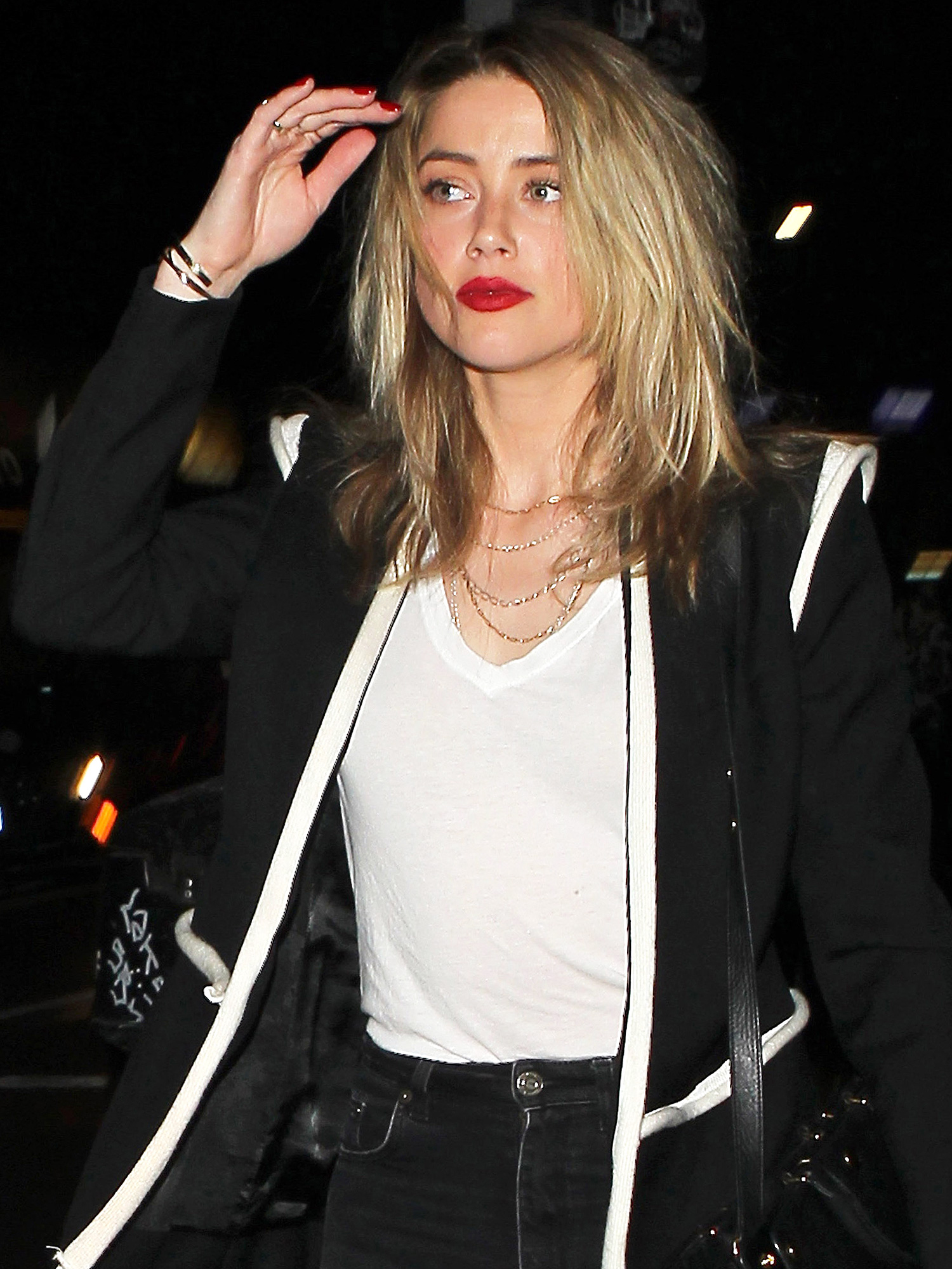 Amber Heard meets up with a Mystery Man at No Name Club