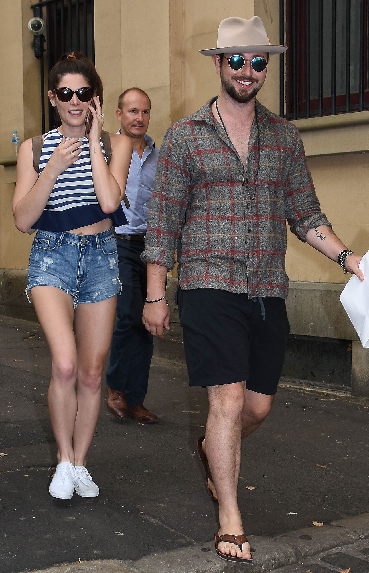 EXCLUSIVE: Actress Ashley Greene and fiancee Paul Khoury spotted in Sydney for first time since engagement announcement