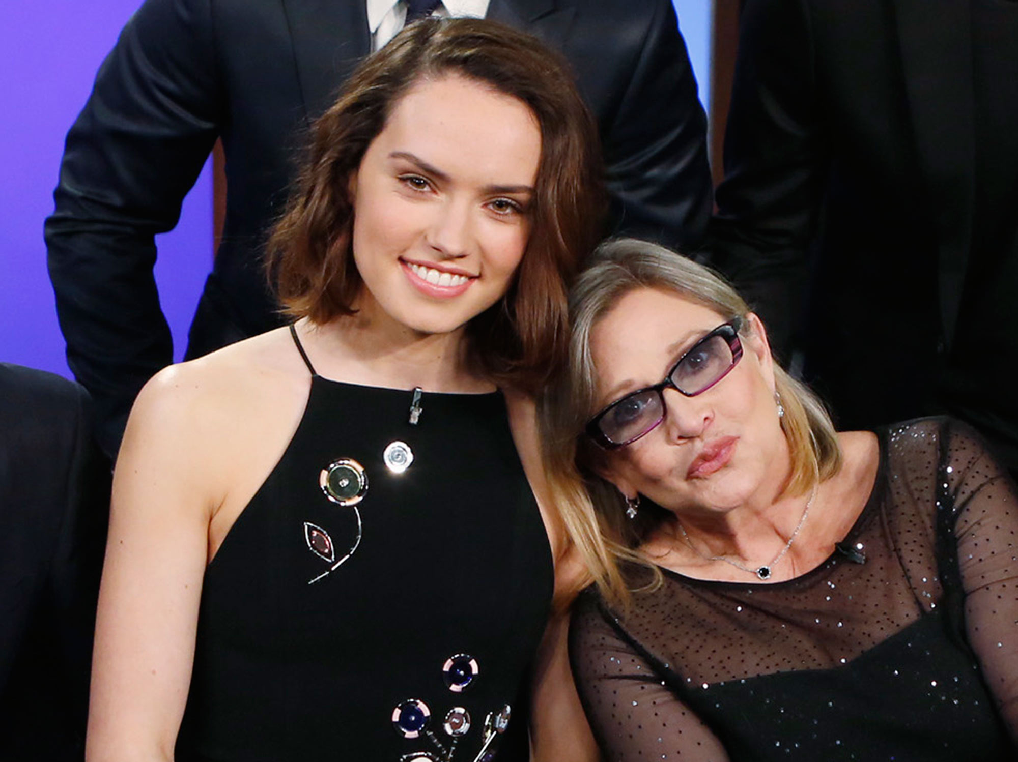 Daisy Ridley and Carrie Fisher