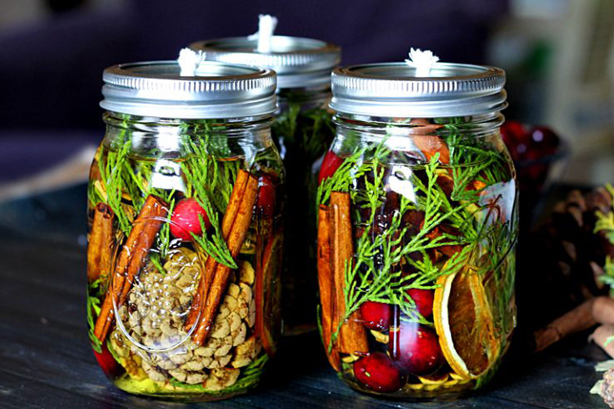 Seasonally Scented Mason Jar Candles