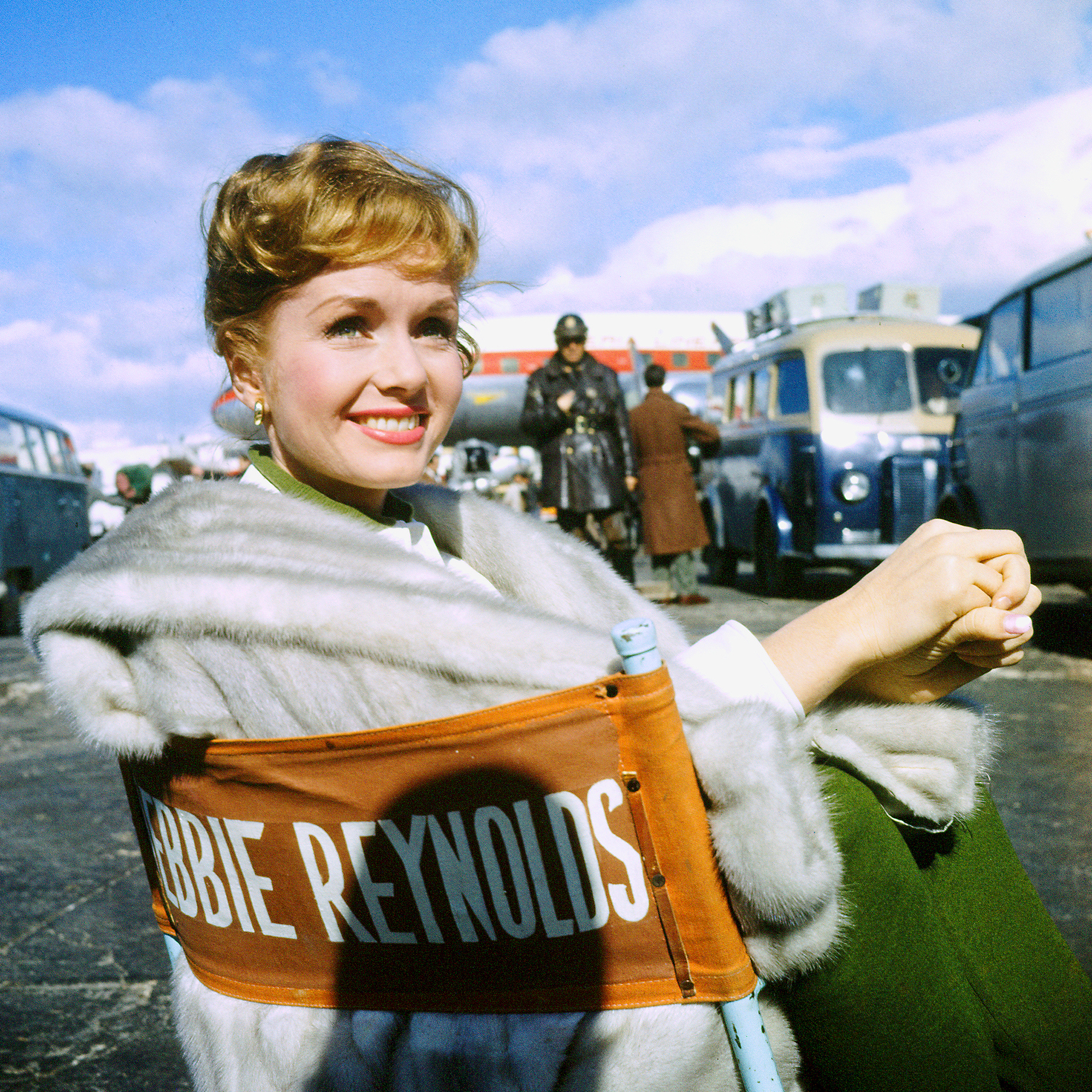 Actress Debbie Reynolds at airport during filming of It Started With a Kiss. (Photo by Loomis Dean/The LIFE Picture Collection/Getty Images)