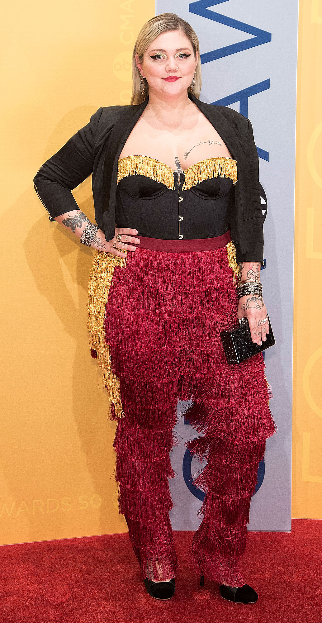 NASHVILLE, TN - NOVEMBER 02: Singer-songwriter Elle King attends the 50th annual CMA Awards at the Bridgestone Arena on November 2, 2016 in Nashville, Tennessee. (Photo by Taylor Hill/Getty Images)