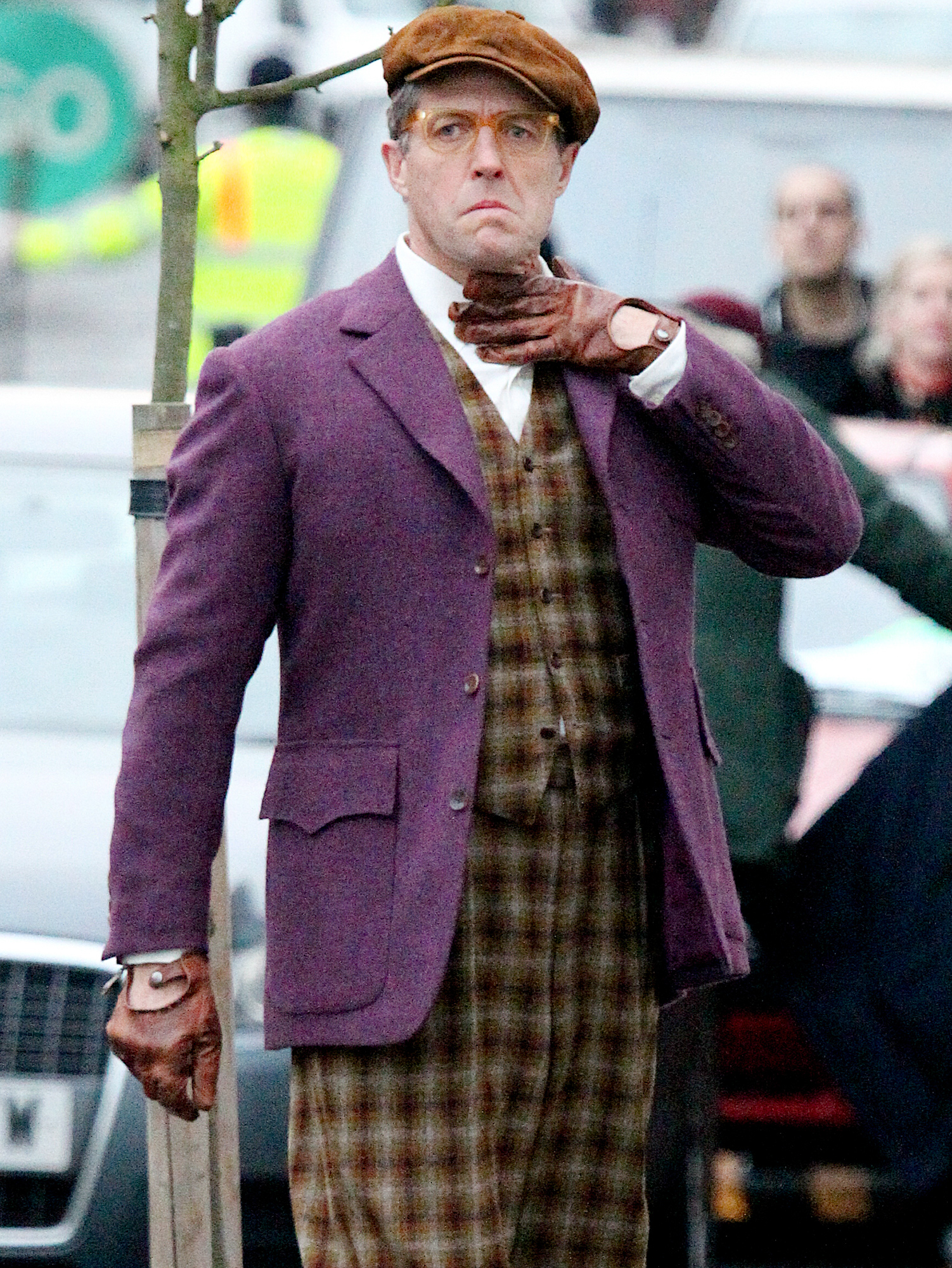 EXCLUSIVE: Hugh Grant Spotted On Set Of The Film Paddington 2.