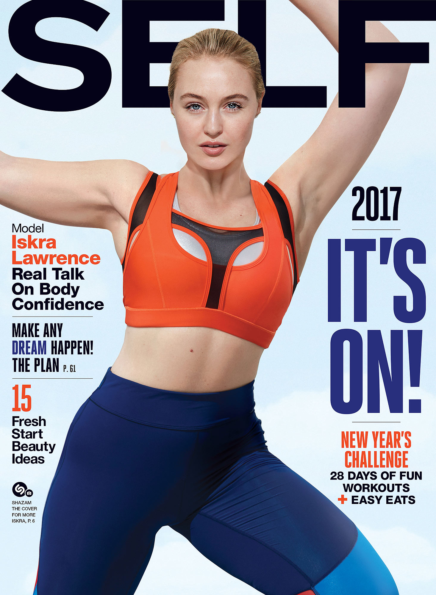 Iskra Lawrence on the cover of SELF