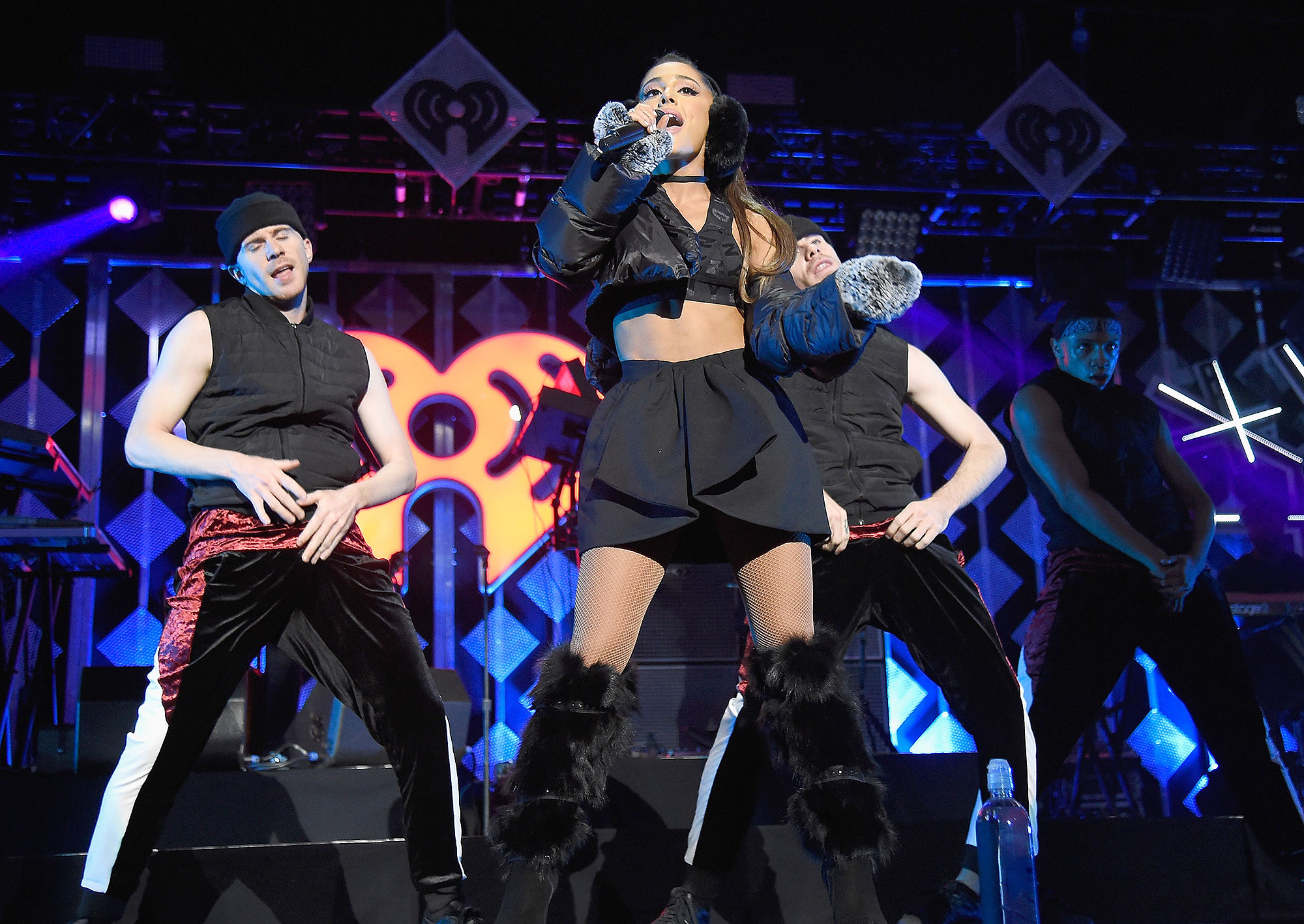 NEW YORK, NY - DECEMBER 09:  Ariana Grande performs onstage during Z100's Jingle Ball 2016 at Madison Square Garden on December 9, 2016 in New York, New York.  (Photo by Kevin Mazur/Getty Images for iHeart)