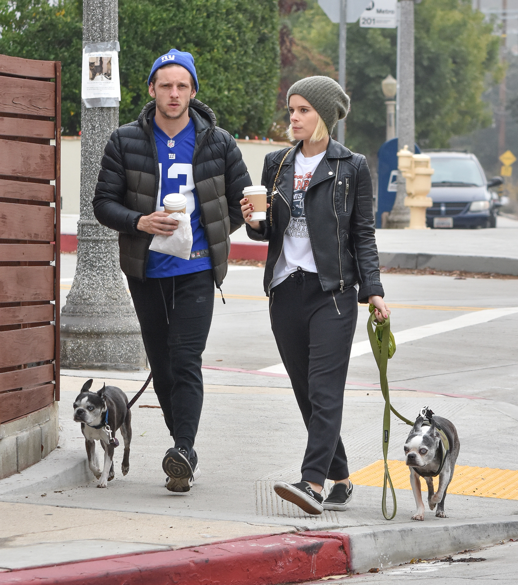 Exclusive... Kate Mara & Jamie Bell Grab Coffee While Out Walking Their Dogs In Silverlake