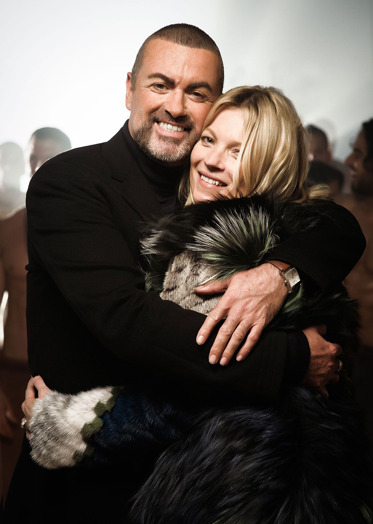 George Michael and Kate Moss