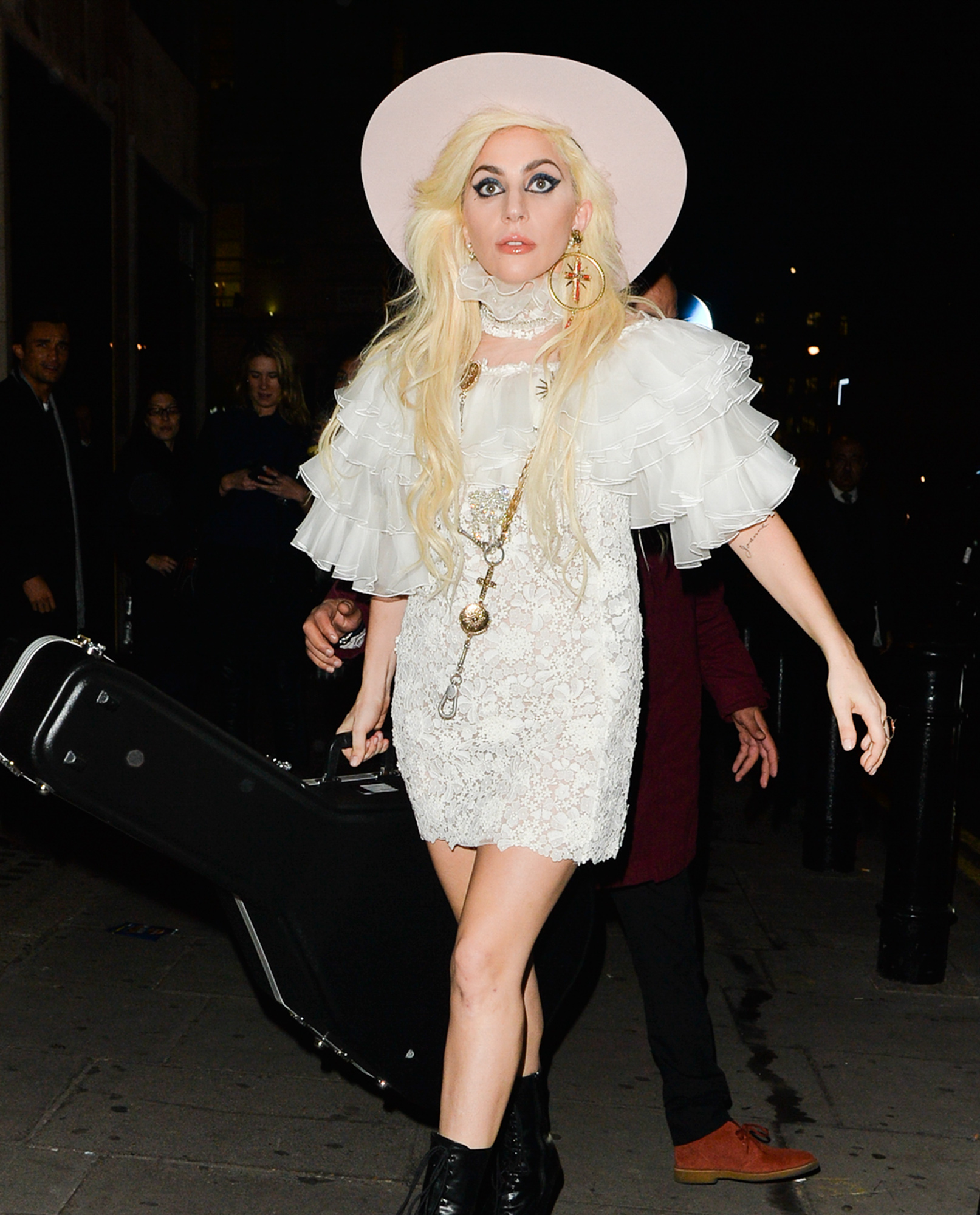 Lady Gaga Rocks The Country Look In London