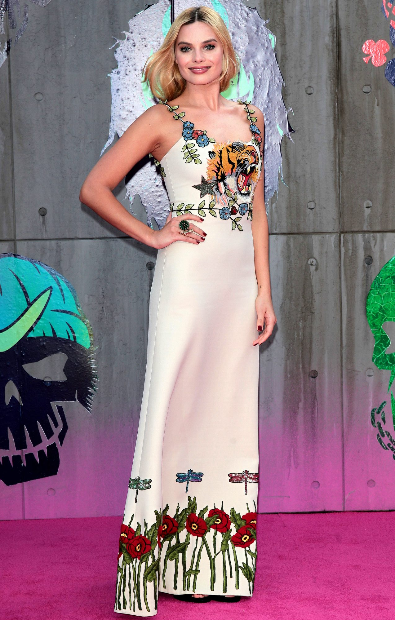 Georgia May Jagger attends the Suicide Squad film premiere in London